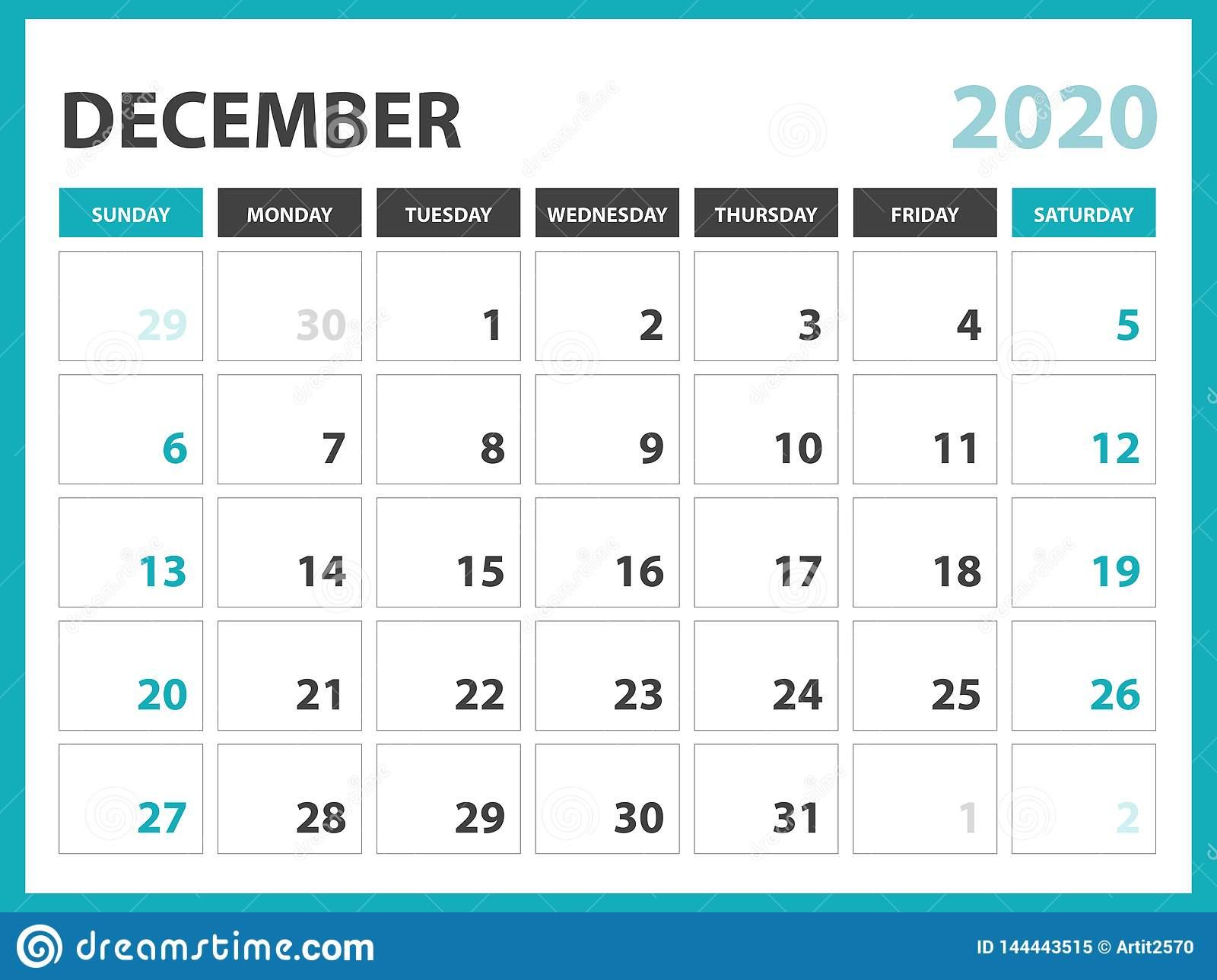 Desk Calendar Layout Size 8 X 6 Inch, December 2020 Calendar within Blank Calendar 6 Weeks Start On Sunday