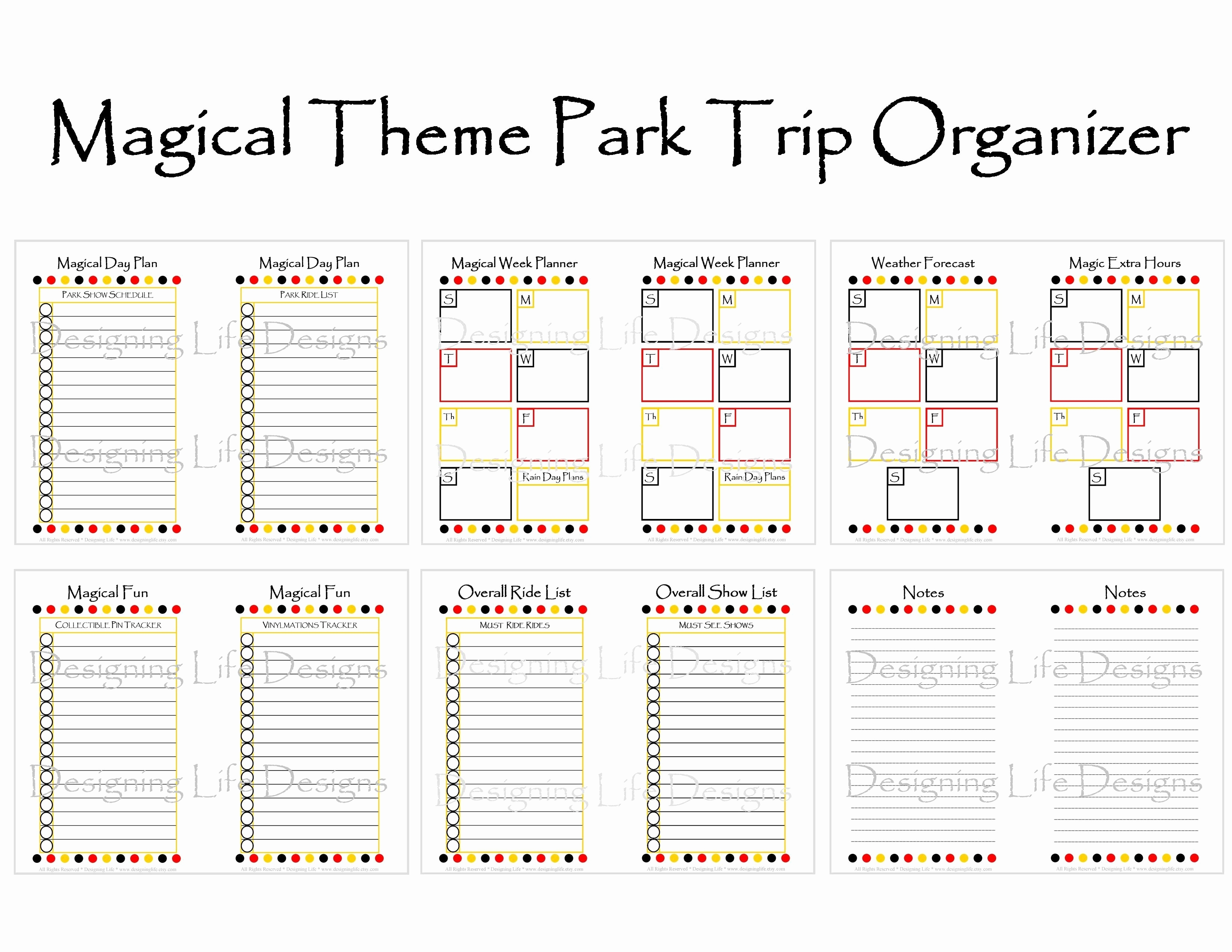 Disney World Itinerary Template Blank | Template Calendar Printable with Disney World Itinerary Template Blank