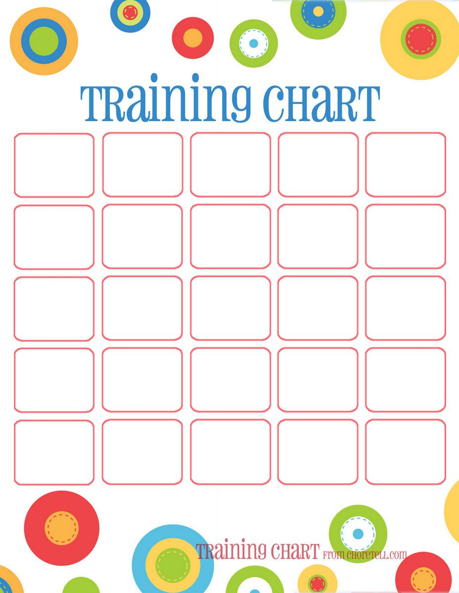 Dots Reward Charts: Potty Training & More | Free Printable Downloads with Free Printable Behavior Chart Templates