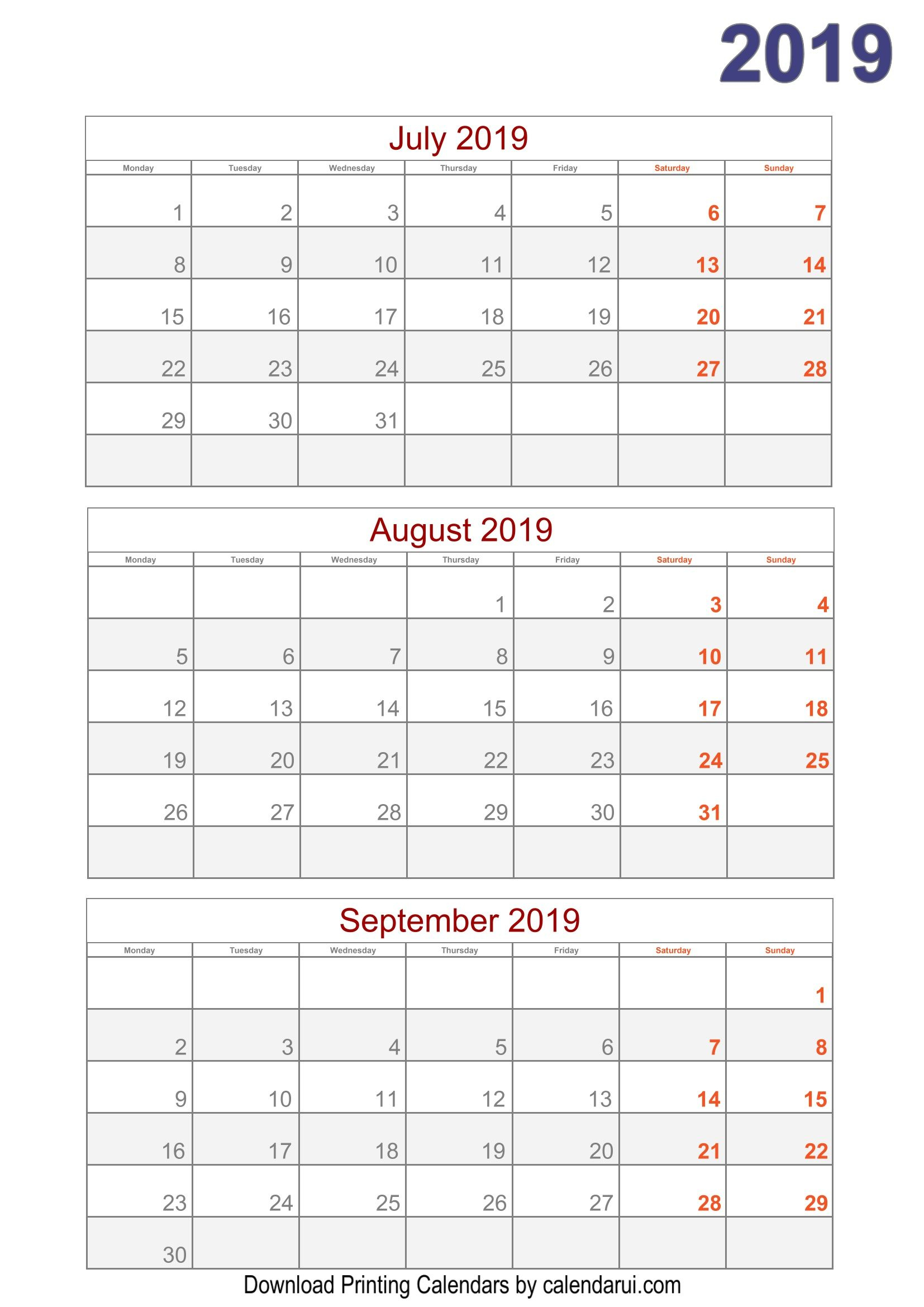 Download 2019 Quarterly Calendar Printable For Free | Calendar within 2020 Printable Calendar Templates Quarterly