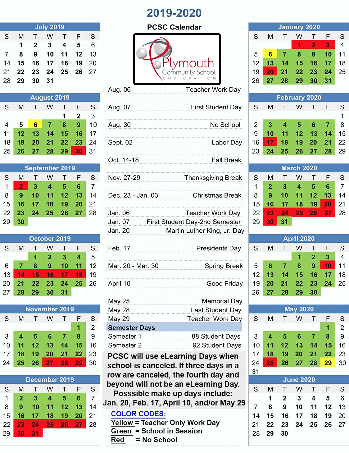 Download A Copy Of The Recently Approved 2019-2020 Pcsc Balanced pertaining to U Of R Calendar 2019-2020