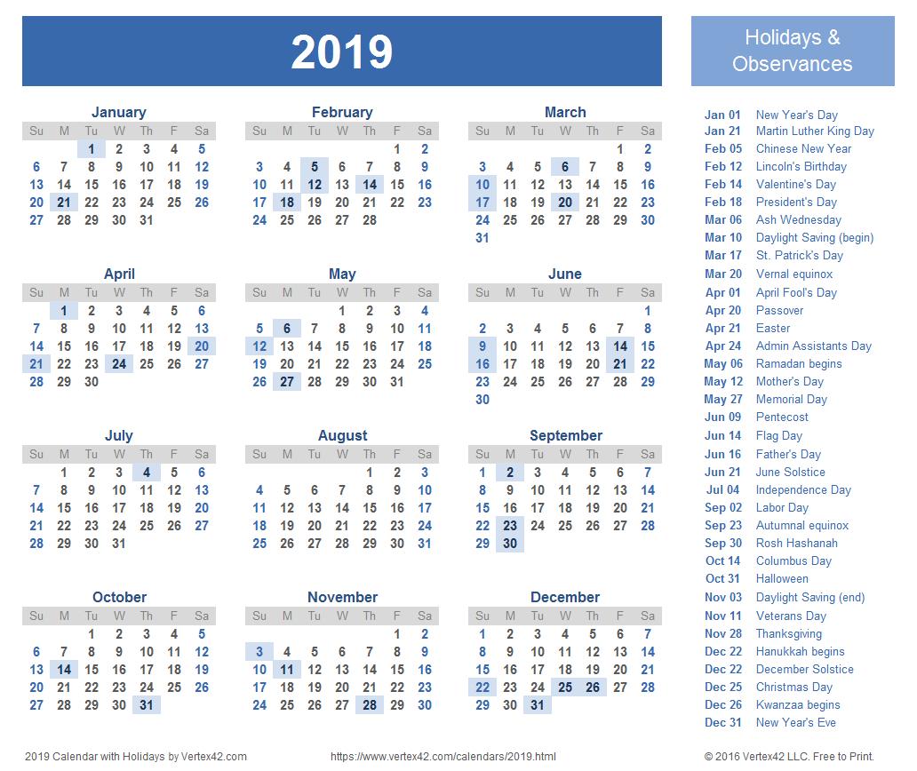 Download Free Printable 2019 Calendar Templates That You Can Easily with Free Printable 2019-2020 Calendar With Editing