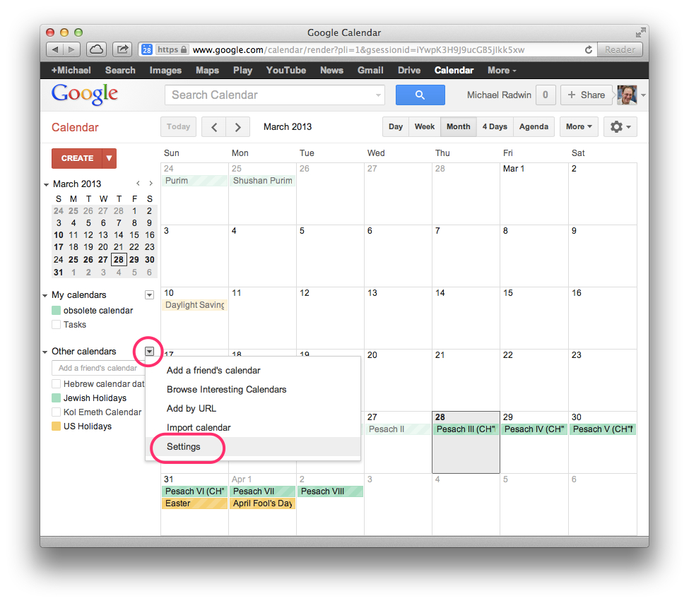 Download – Google Calendar – Hebcal in How To Create A Jweish Calender In One Page For 2019-2020