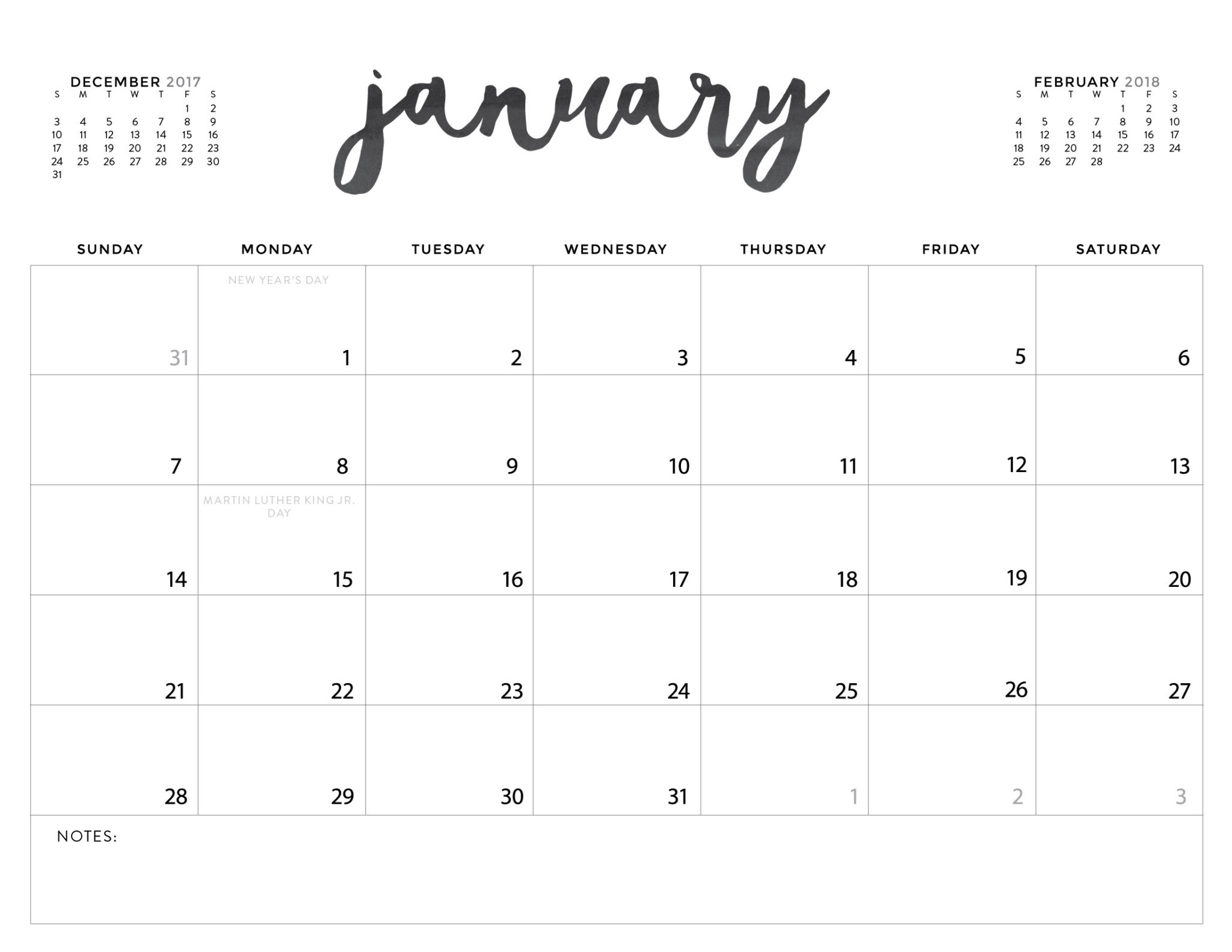 Download Your Free 2018 Printable Calendars Today! There Are 28 inside Free Downloadable Cute Calendar Template
