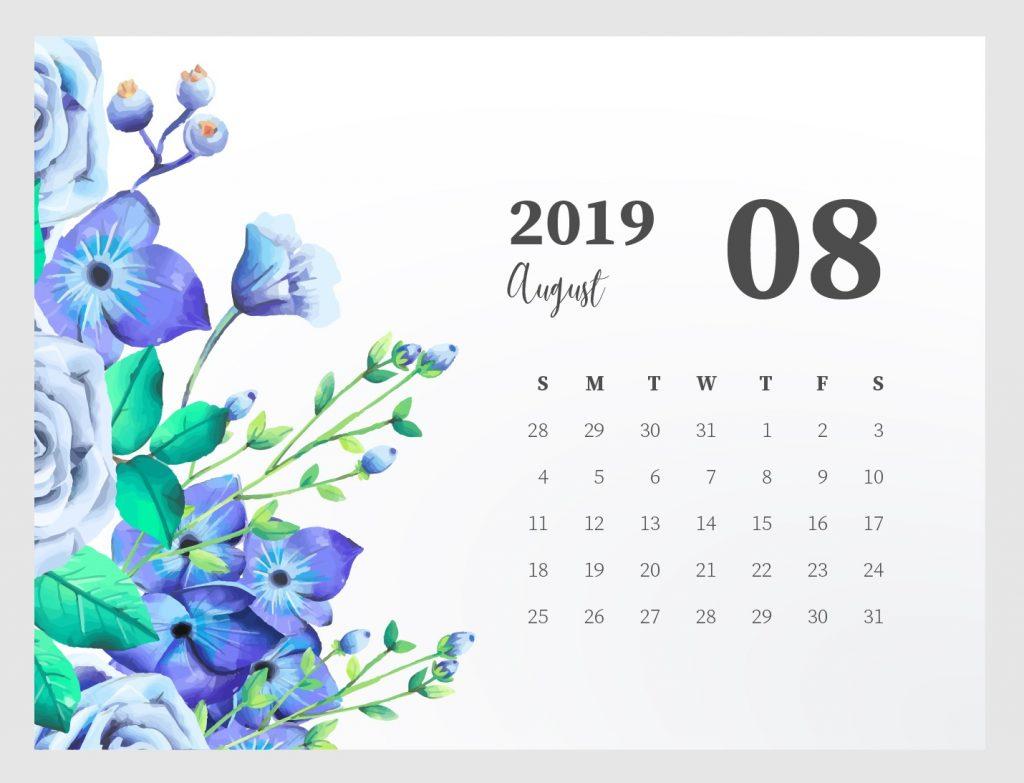 ✅ Blank August 2019 Calendar Printable Free Download inside Cute August Calendar Printable Template