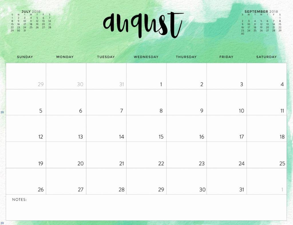 ✅ Blank August 2019 Calendar Printable Free Download intended for Cute August Calendar Printable Template