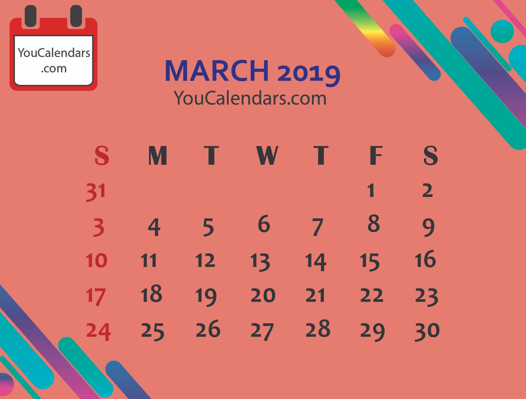 ✅Free March 2020 Calendar Printable Template - You Calendars for Pretty Calendar Template Printable March