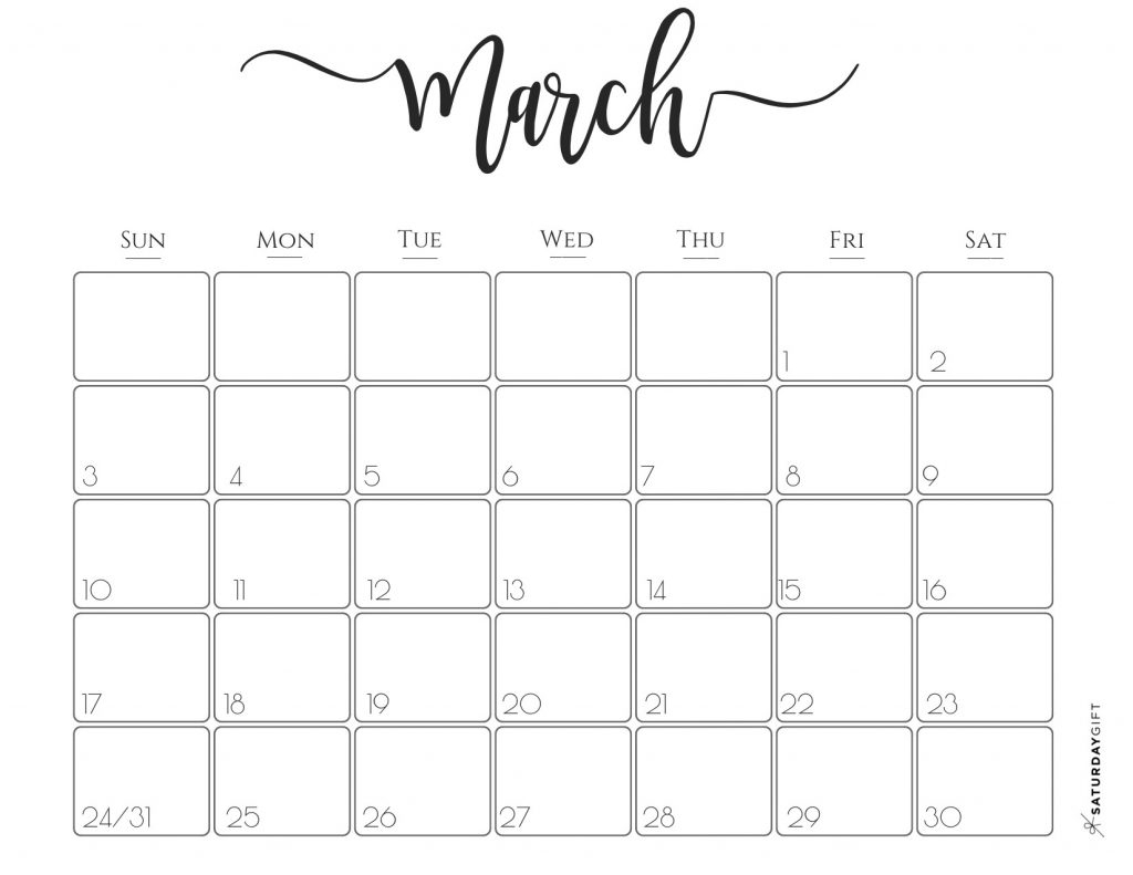 Elegant 2019 Calendar {Free Printables} | Saturdaygift regarding 2019 2020 Girly Calendar Printable