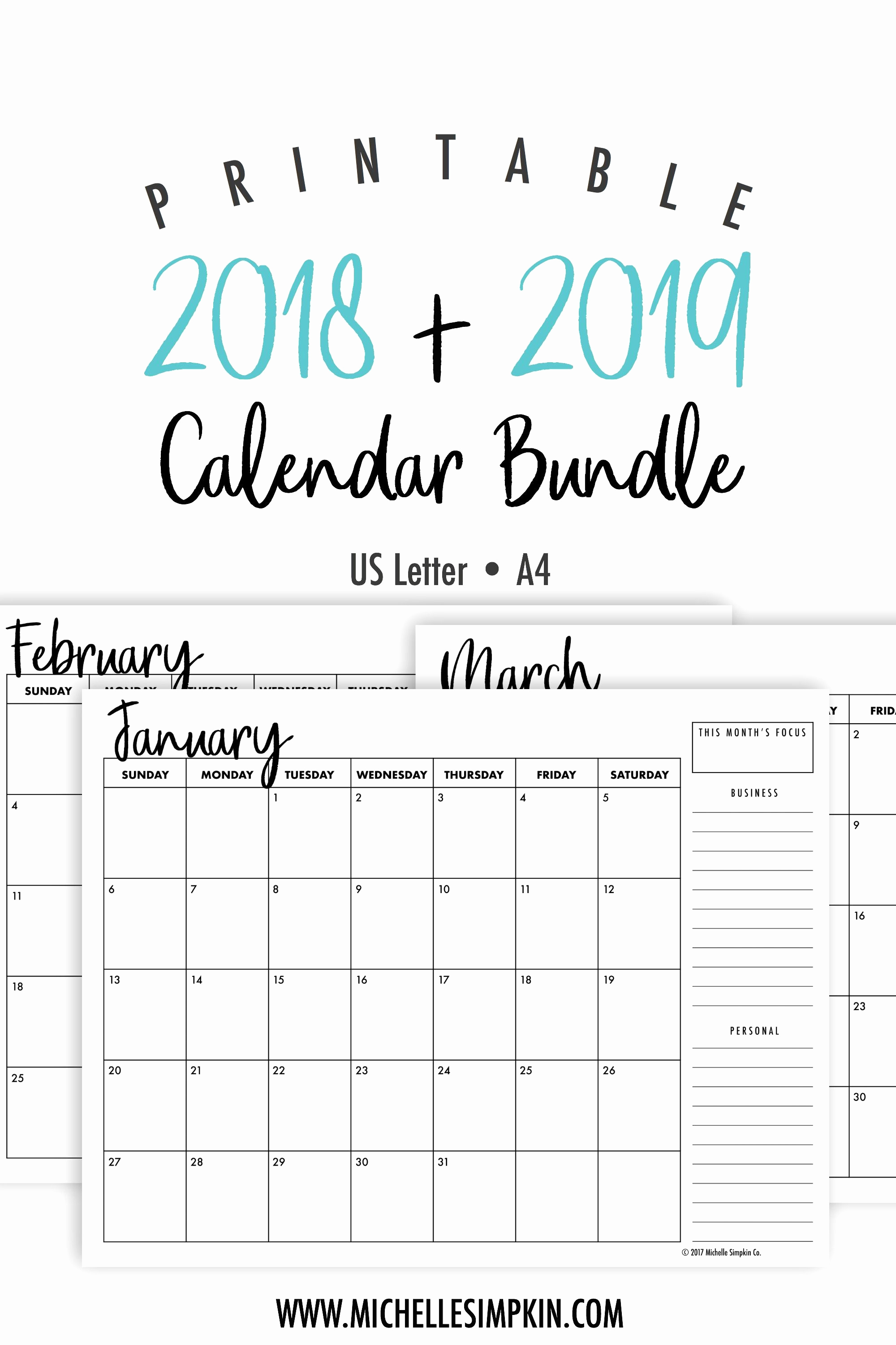Elegant 51 Examples 2019 2020 Calendar Free Printable | Sharmoble with Free Printable Calendar 2019 To 2020