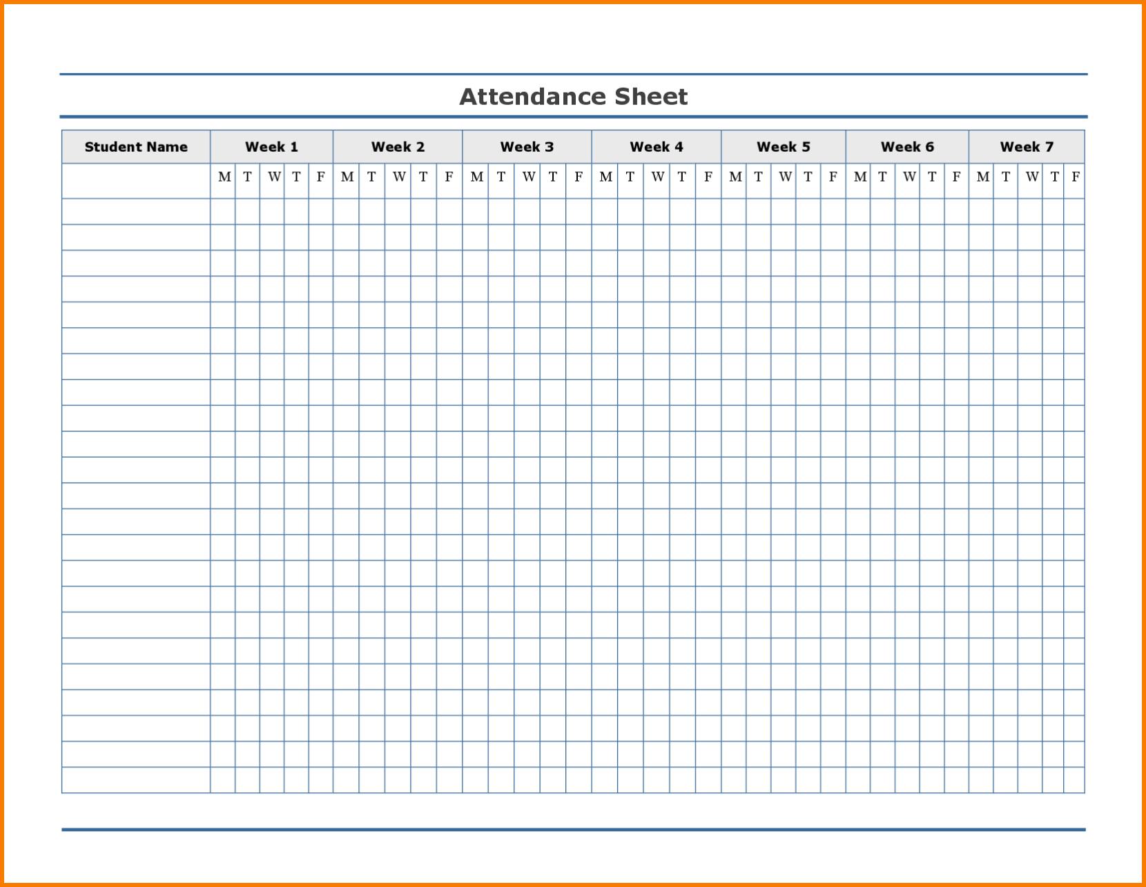 Employee Attendance Excel Sheet | Employee Attendance Sheet in Free Printable Employee Attendance Calendar Template