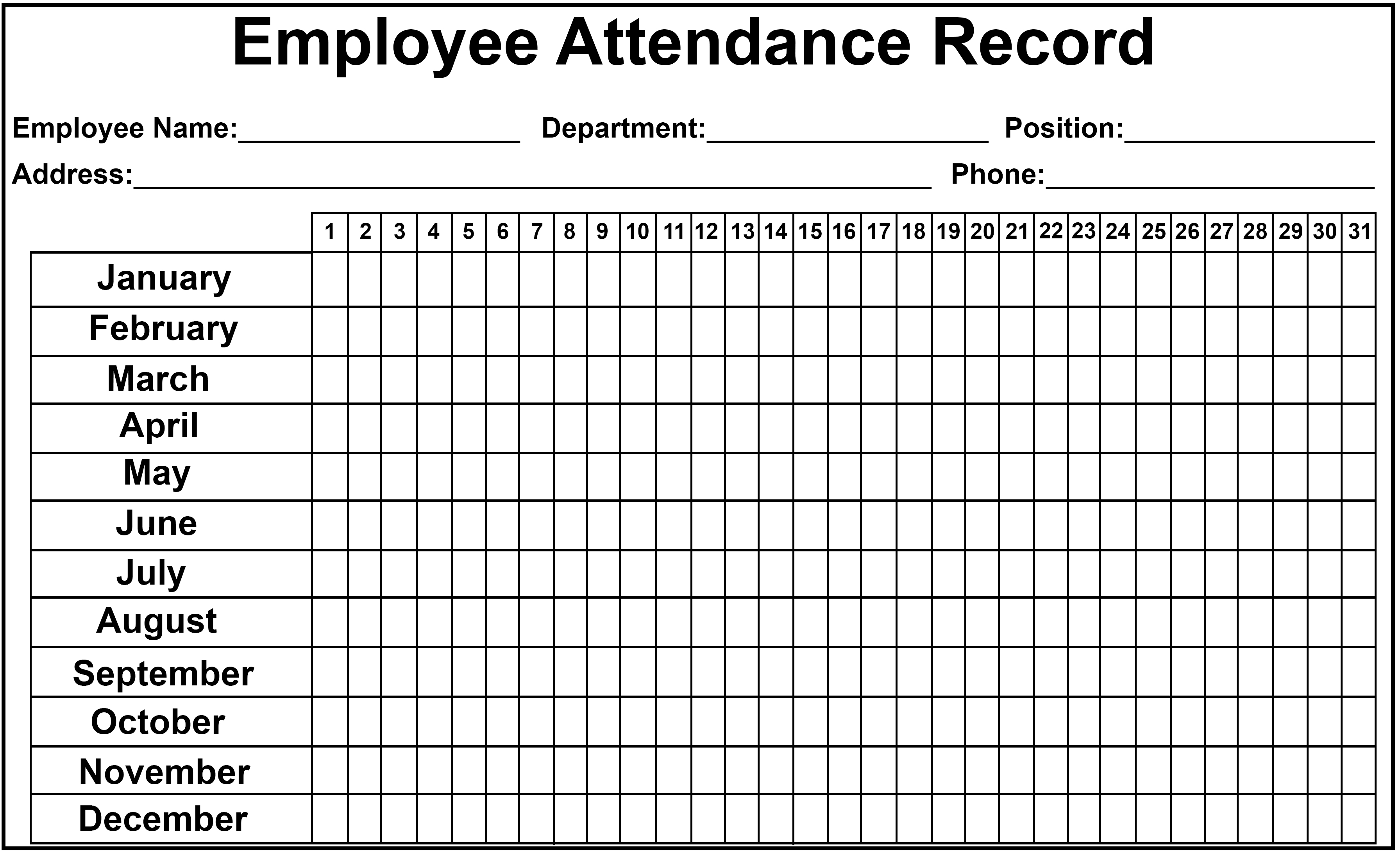 Employee Attendance Tracker Sheet 2019 | Printable Calendar Diy with regard to Free Printable Employee Attendance Calendar Template