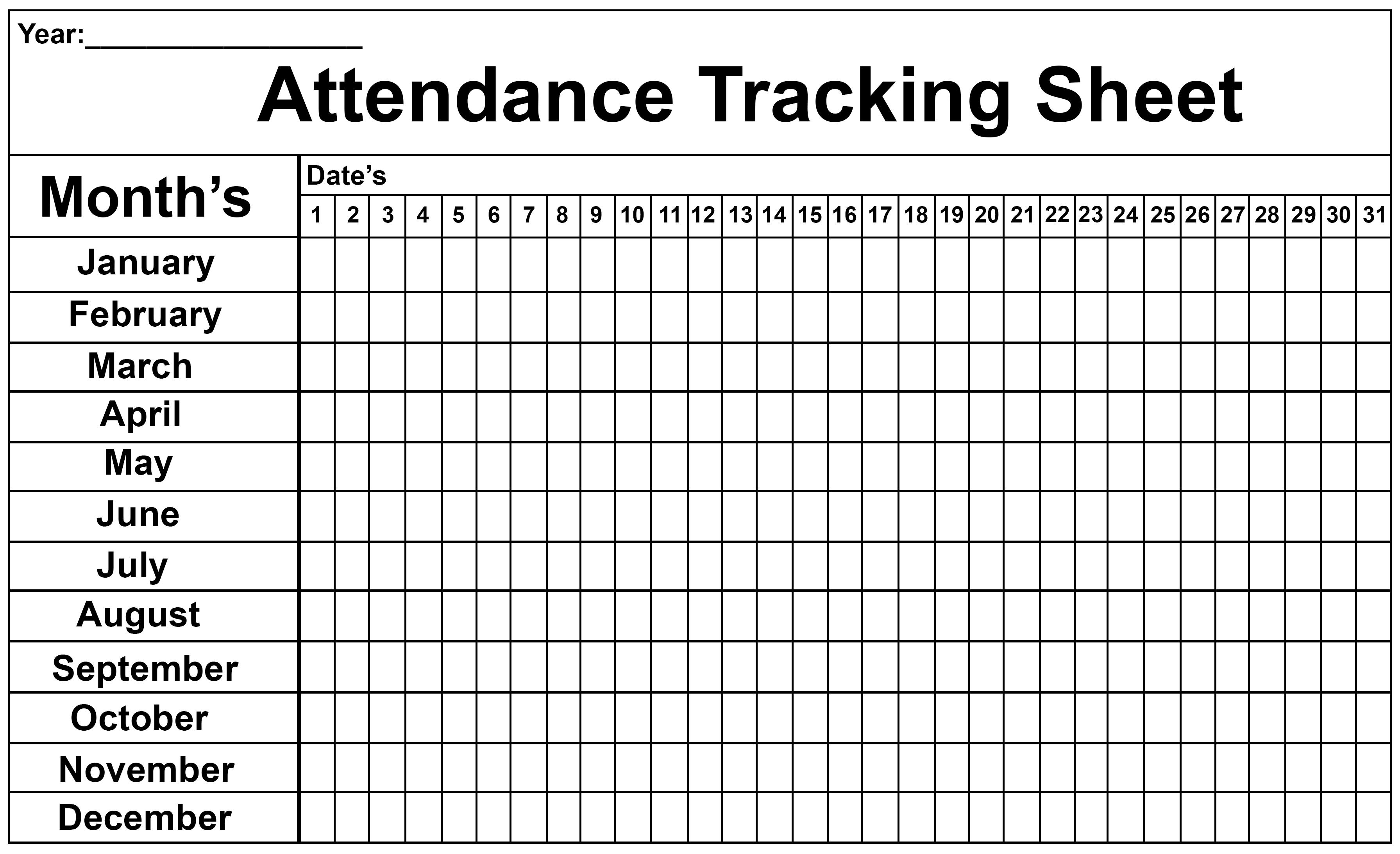 Employee Attendance Tracker Sheet 2019   Printable Calendar Diy with regard to Printable July Employee Template
