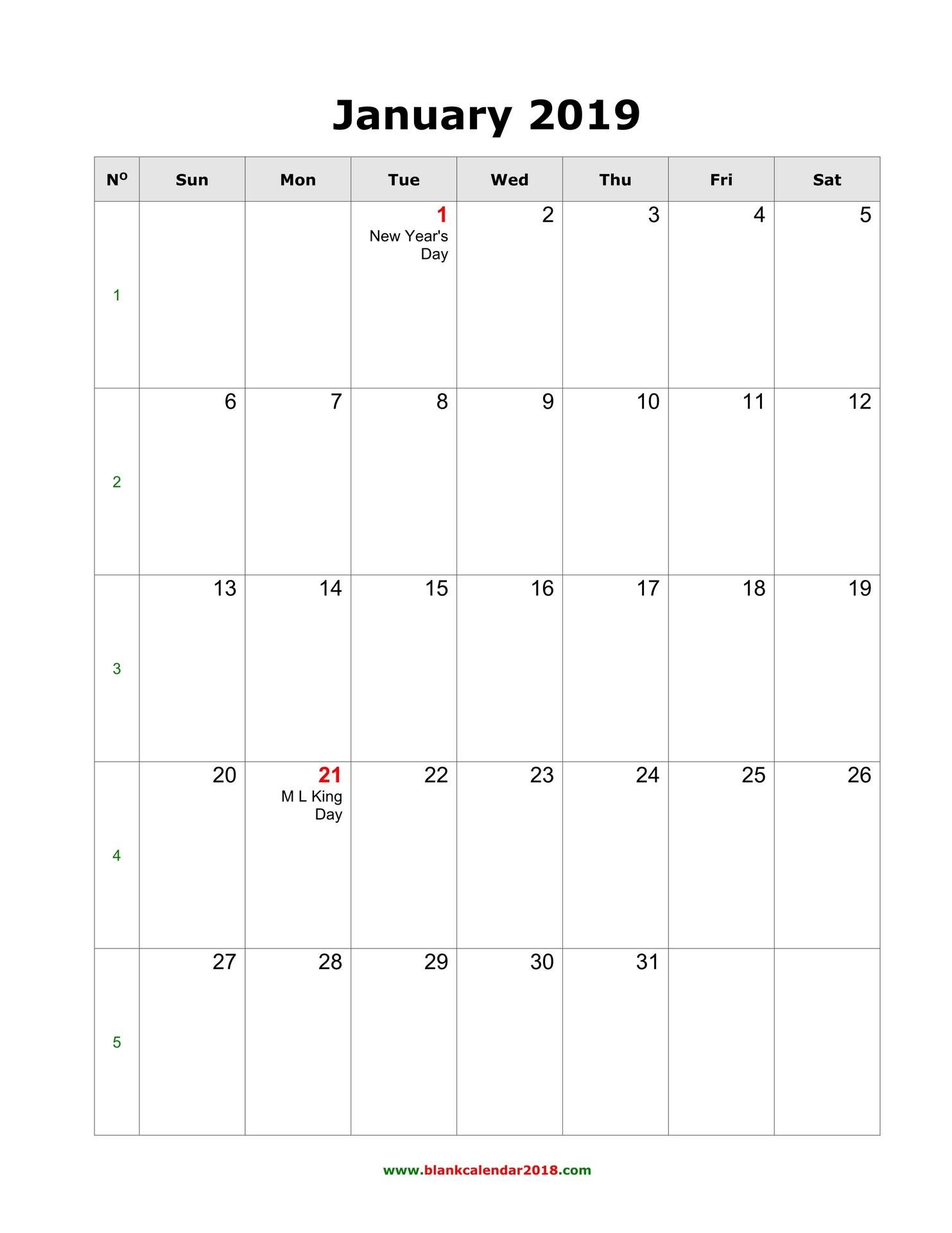 Empty Calendar 2019 - Erha.yasamayolver regarding 2019- 2020 Calendar Printable Uga