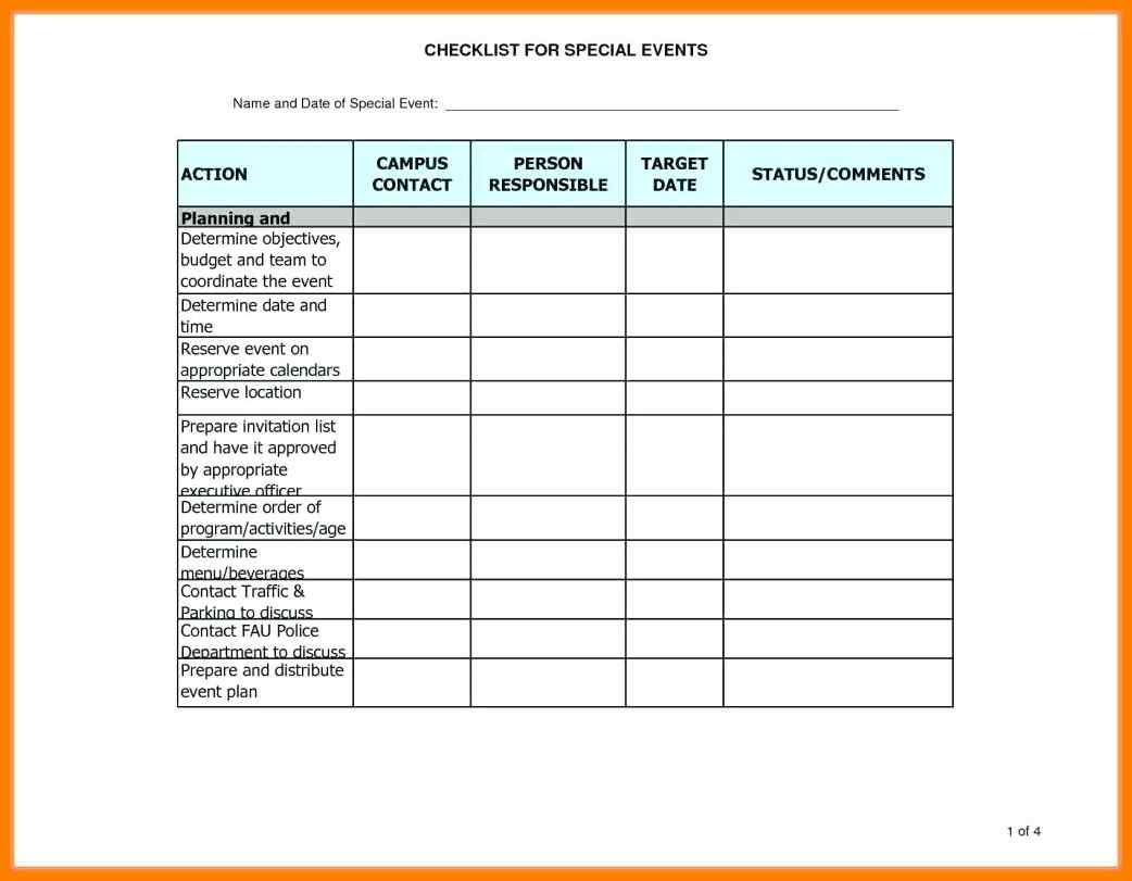 Event Checklist Template Excel Free - Infer.ifreezer.co with Event Guest List Template Excel