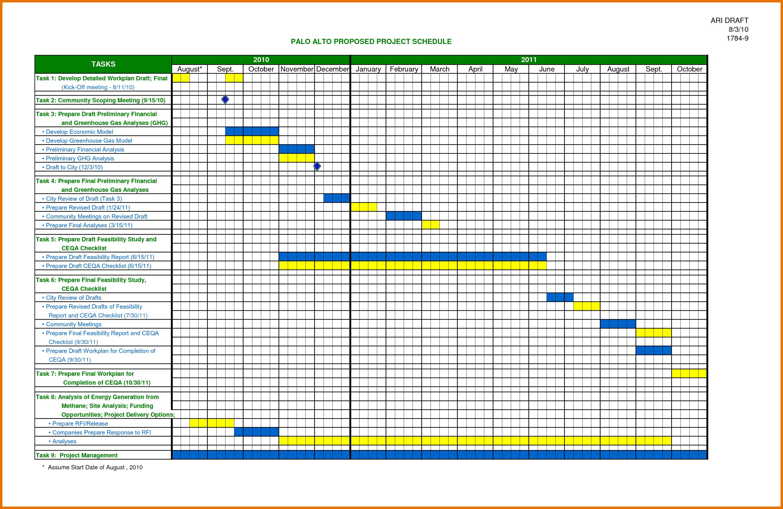 Excel Planning Calendar Template 6 - Istudyathes for Planning Calendar Template Excel