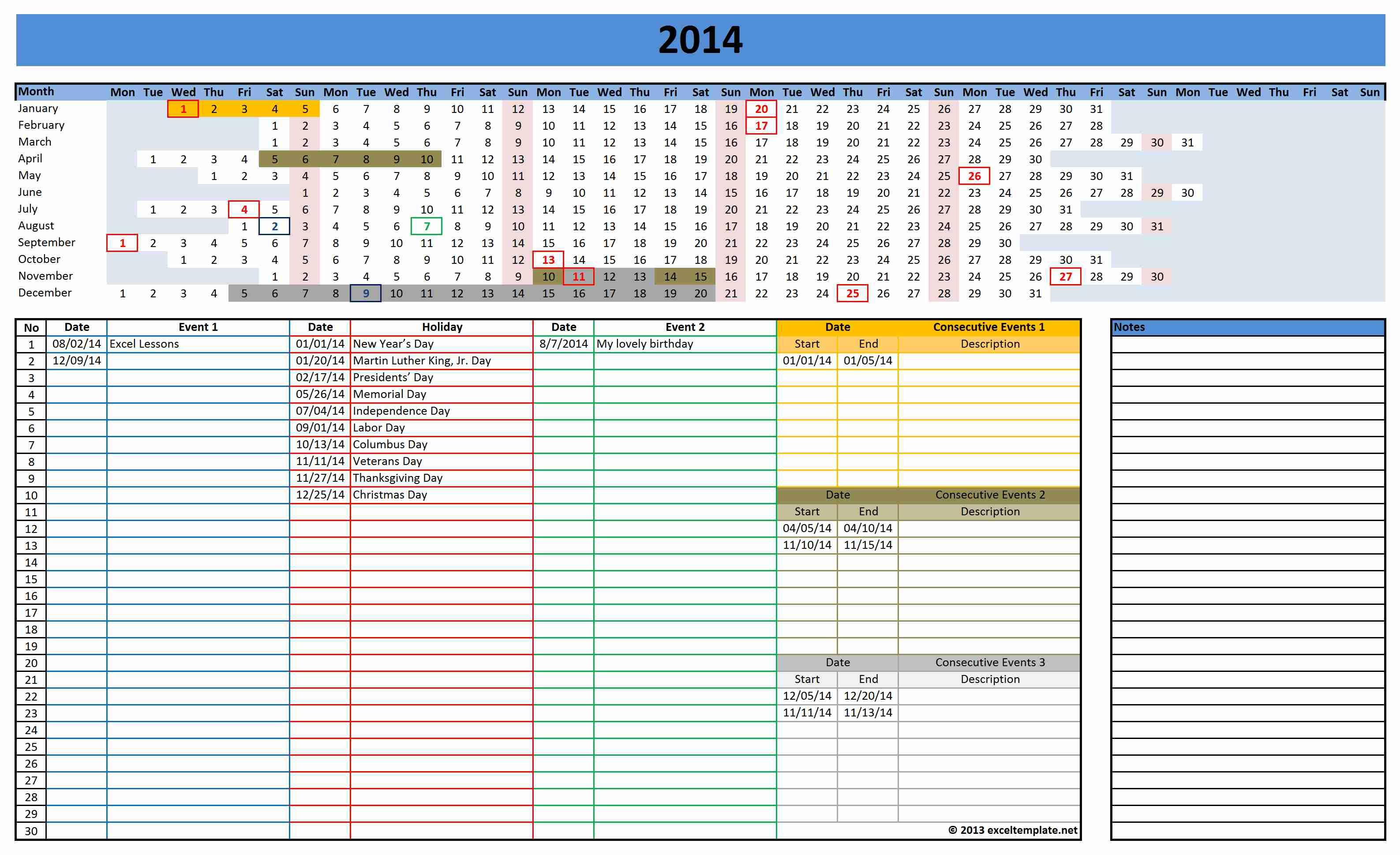 Excel-Template-Calendar-Calendar-Template-2018-Xlsx-Excel-Calendar pertaining to Excel Template For Calendar