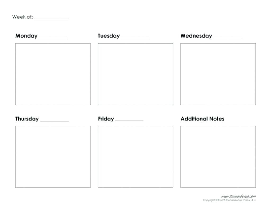 Extraordinary Blank Calendar Template 5 Day Week • Printable Blank throughout Blank Calendar Printable 5 Day