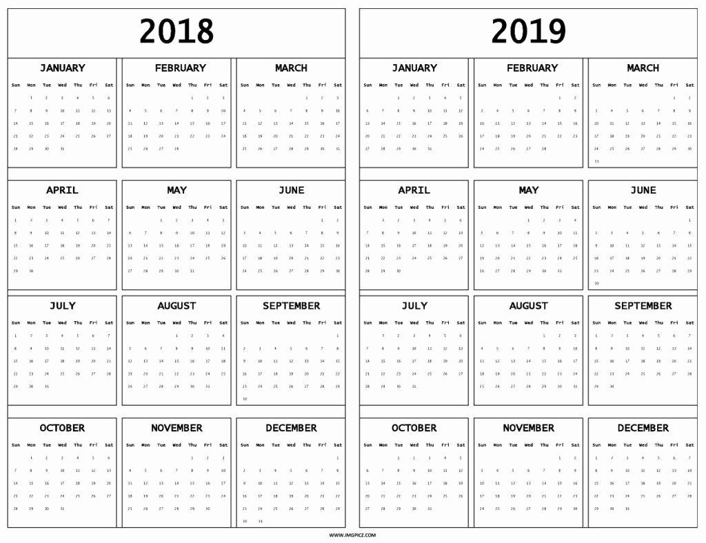 Extraordinary Calendar 2019 And 2020 Nz • Printable Blank Calendar for 2019- 2020 Calendar Printable Uga