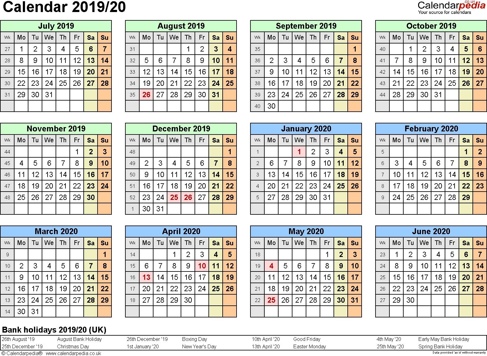Extraordinary Calendar 2019 And 2020 Nz • Printable Blank Calendar pertaining to 2019- 2020 Calendar Printable Uga