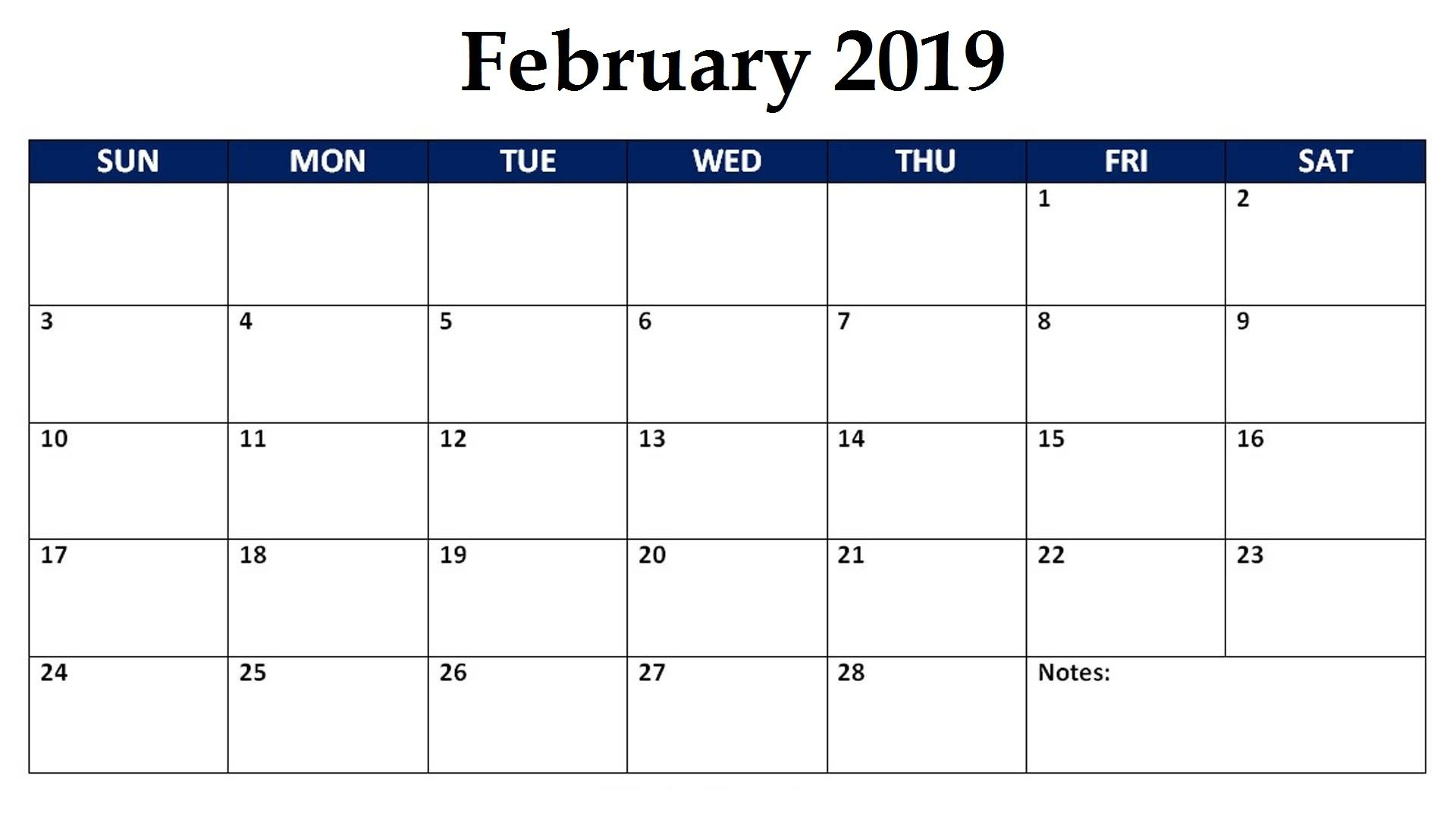 February 2019 Editable Monthly Calendar #feb #feb2019 #holidays with regard to Editable October 2019 Calendar With Religious Holidays