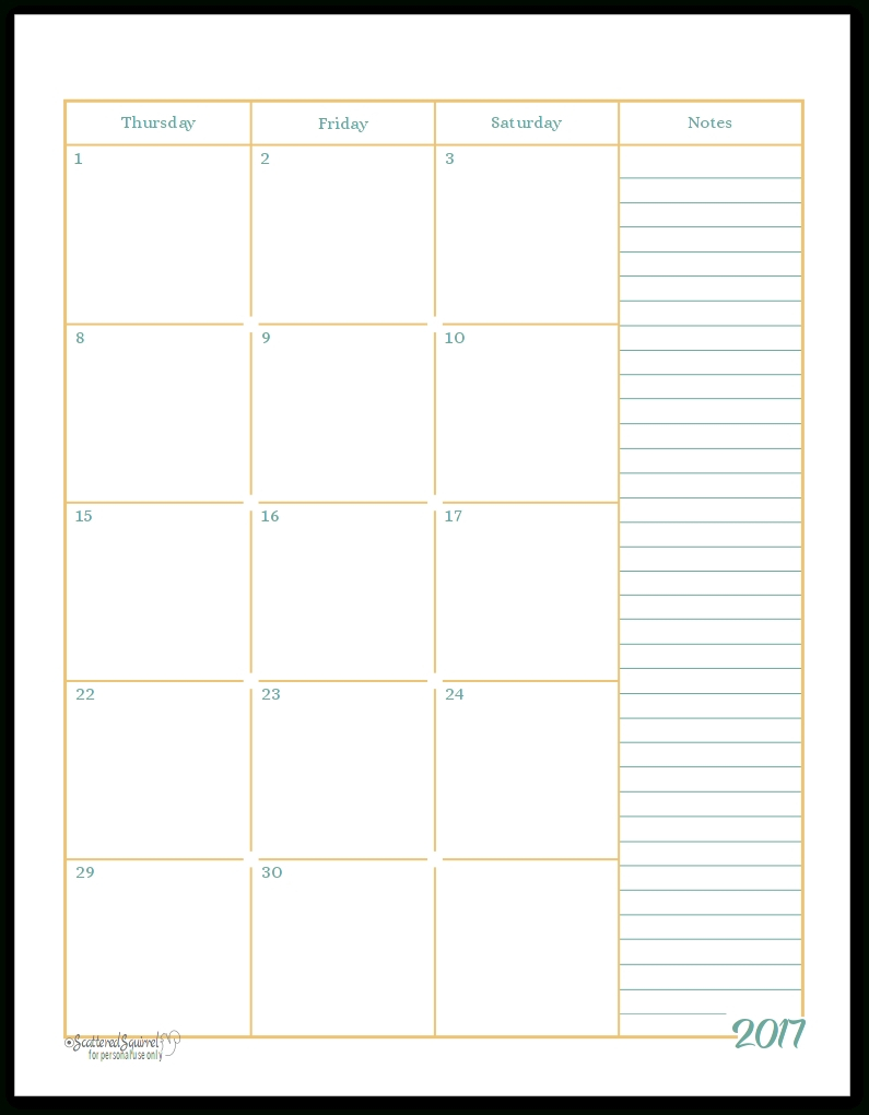 Free 2 Page Monthly Calendar Template • Printable Blank Calendar for 2 Page Monthly Calendar Template