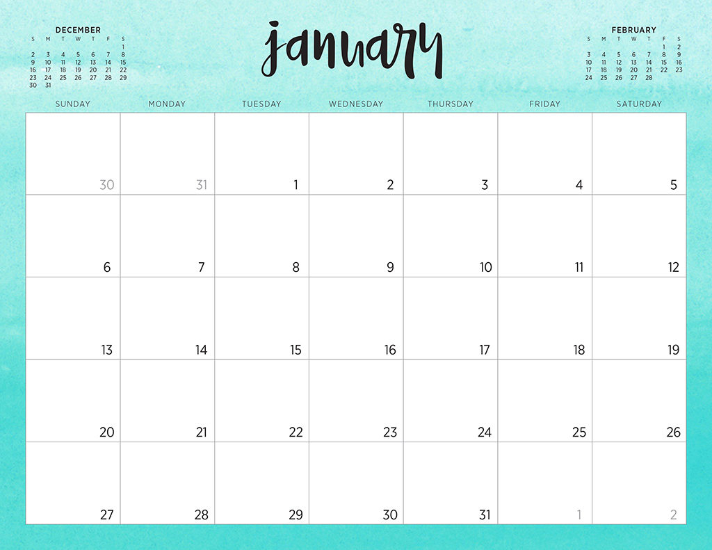 Free 2019 Printable Calendars - 46 Designs To Choose From! pertaining to Pretty Printable Calendar 2020 Without Download