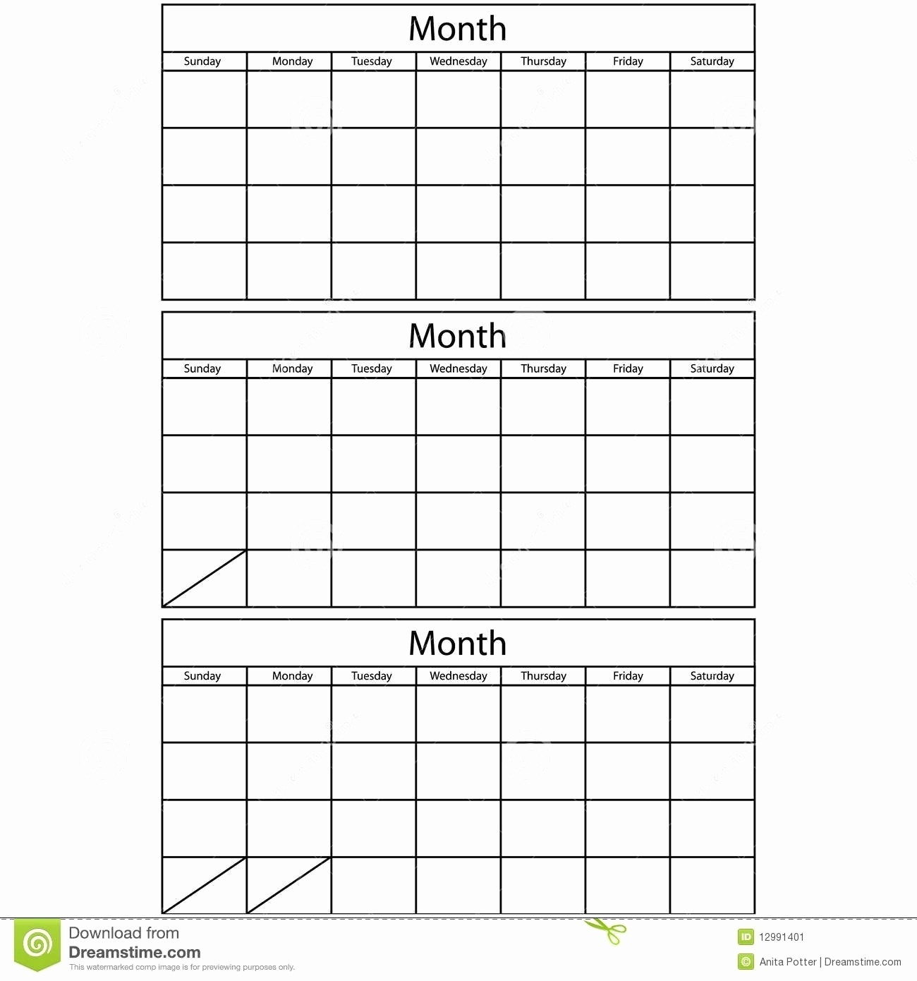 Free 3 Month Calendar Templates - Calendar Inspiration Design with Printable Blank Monthly Calendar Template