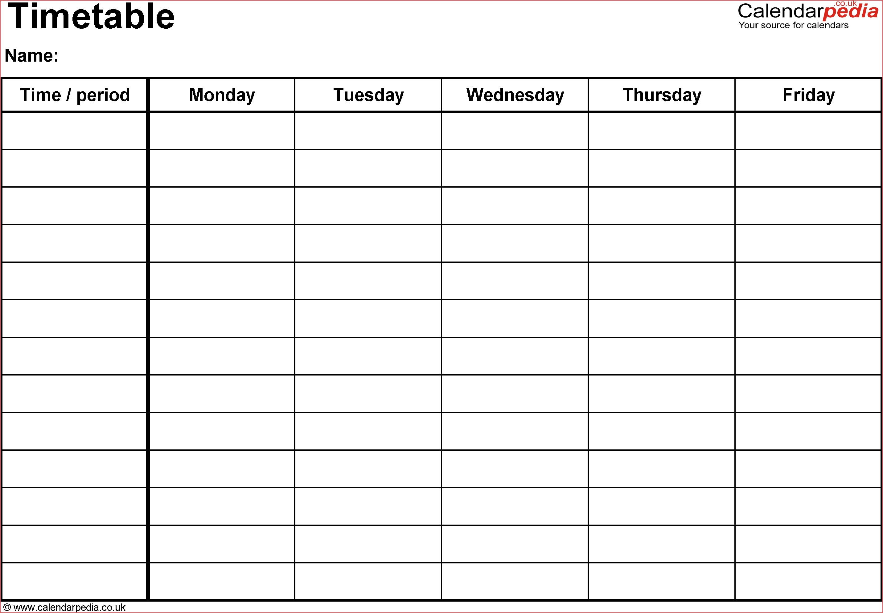 Free 5 Day Calendar Template Online Calendar Templates Printable 5 intended for 5 Day Blank Calendar Template