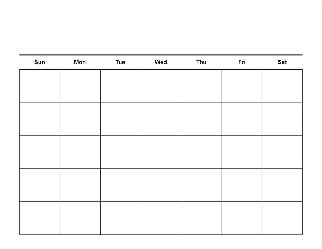 Free 7 Day Blank Calendar | Igotlockedout for Blank 7 Day Week Calendar