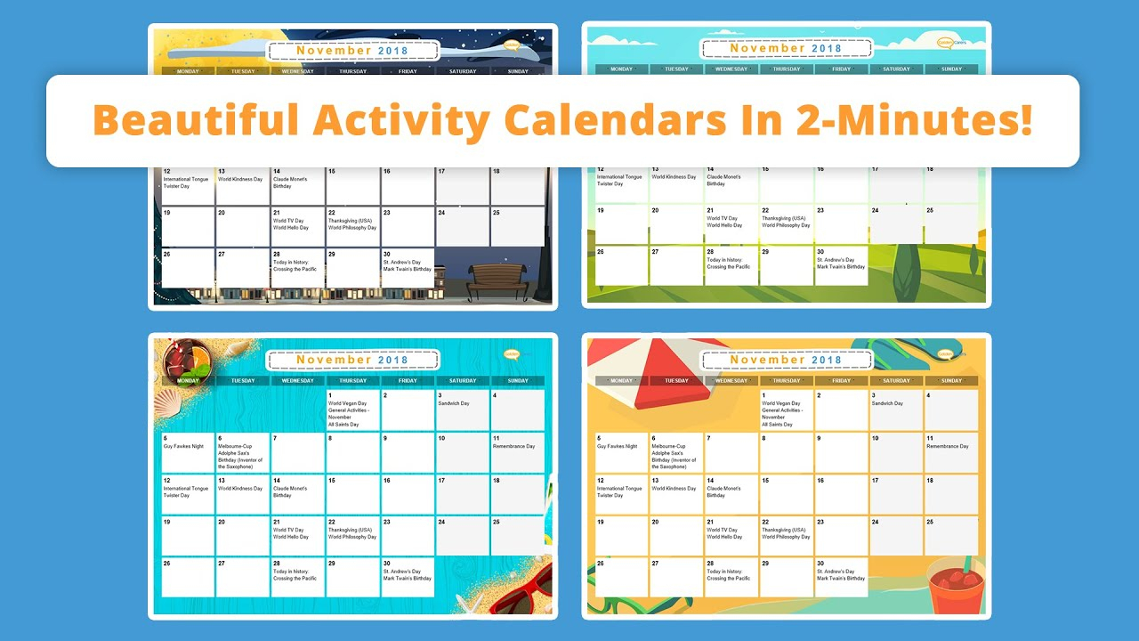 Free Activity Calendar For Seniors with regard to 2 Week Induction Timetable Free Template