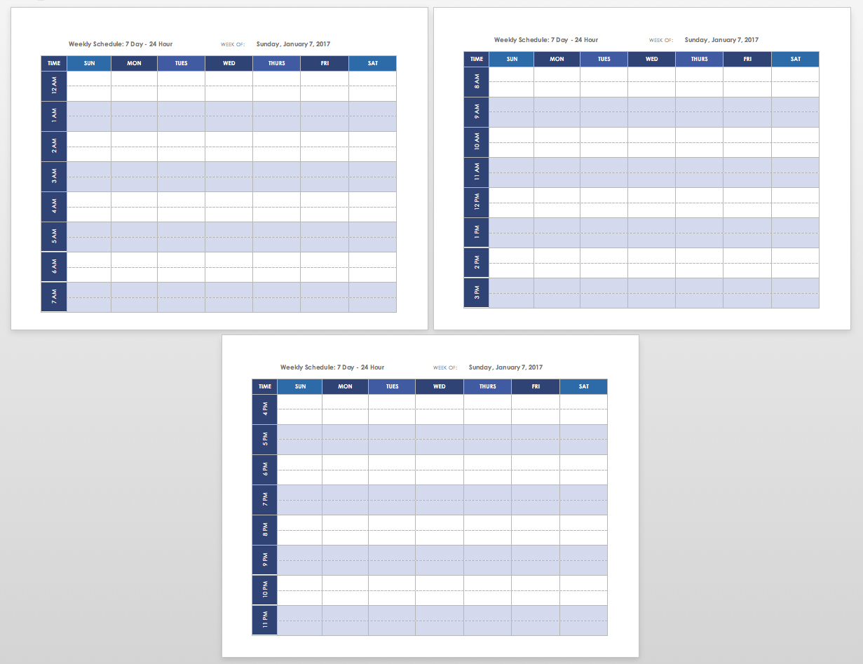 Free Blank Calendar Templates - Smartsheet within One Week Calendar Template Printable