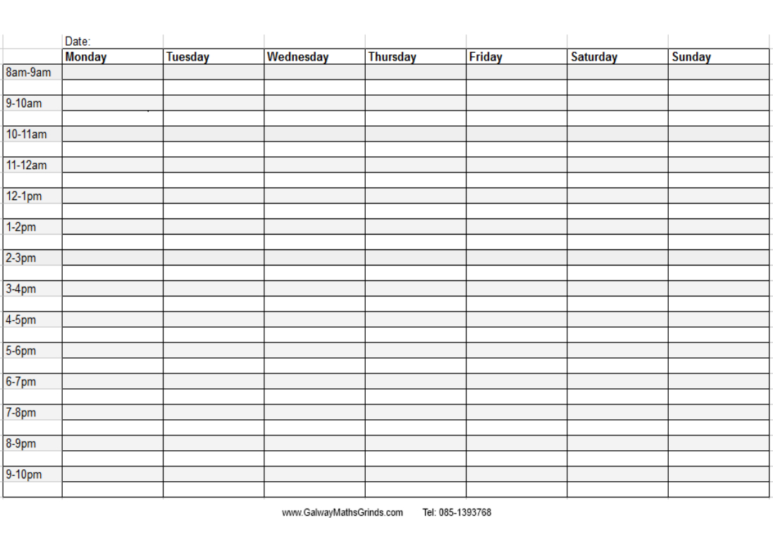 Free Ble Calendar With Holidays Time And Date Weekly Times Slots throughout Blank Time And Date Calendar