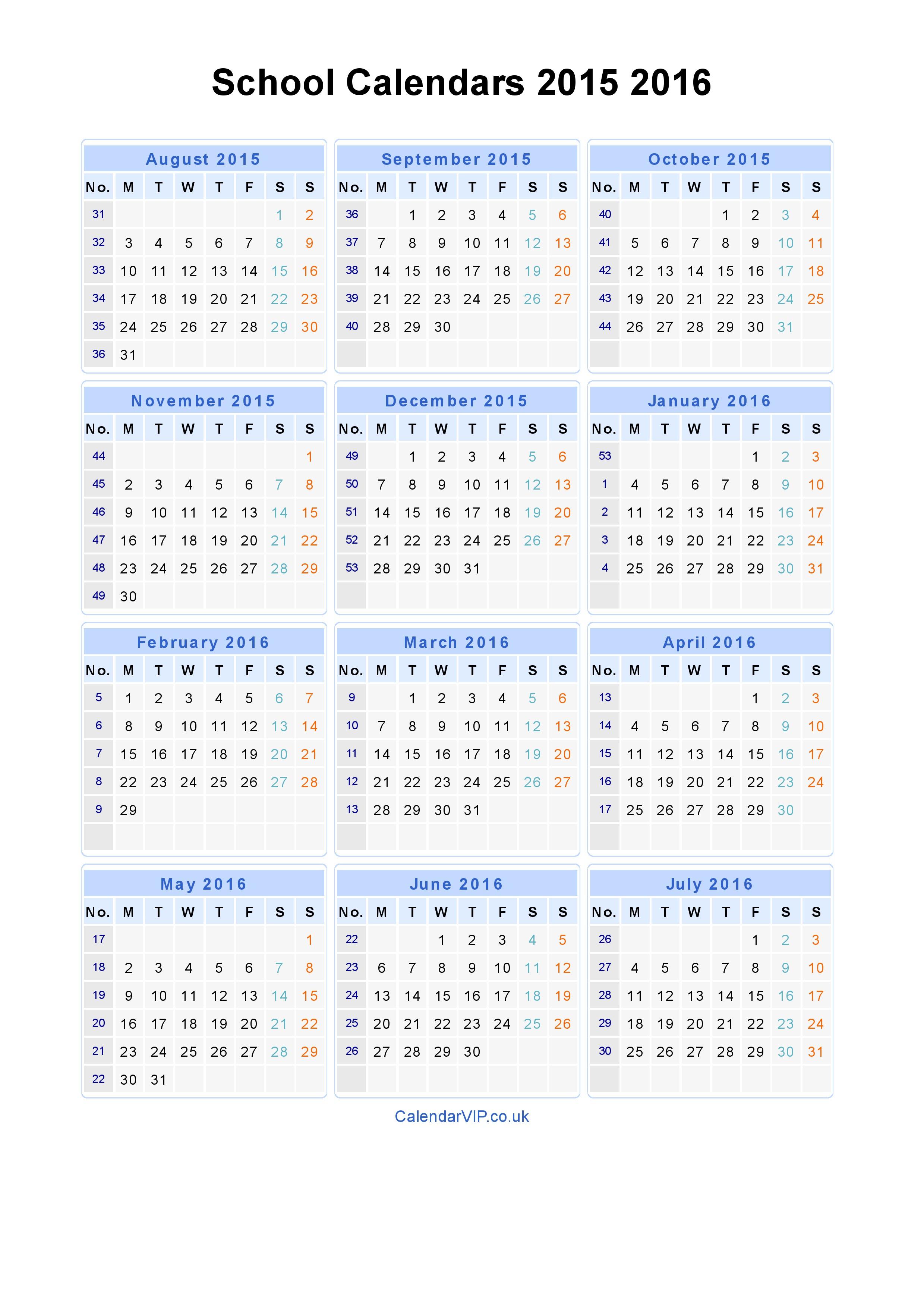 Free Calendar 2015 2019 - Erha.yasamayolver with Free Printable 2019-2020 Academic Calendar