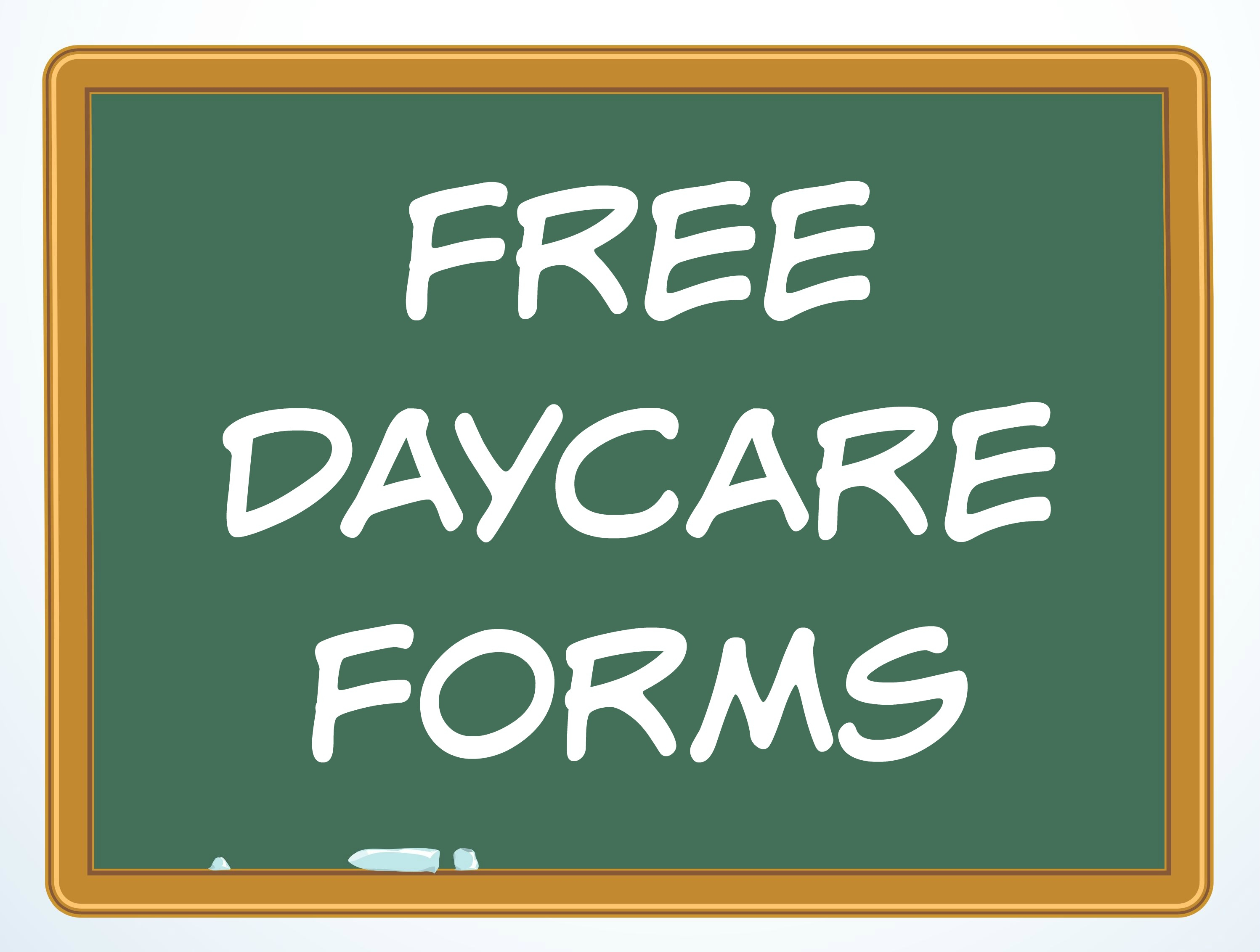 Free Daycare Forms And Sample Documents within Day Care Attendance Sheet Template