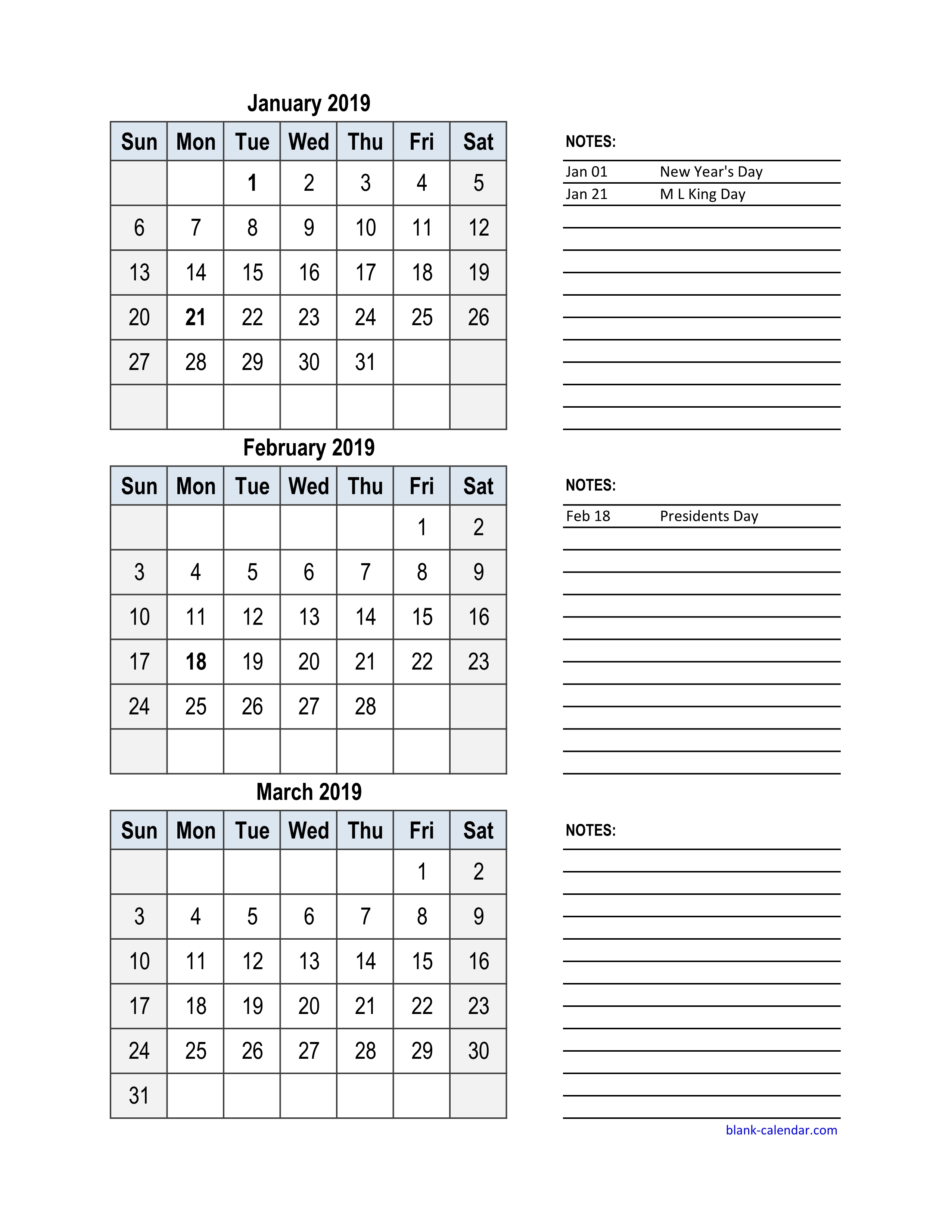 Free Download 2019 Excel Calendar, 3 Months In One Excel Spreadsheet inside Blank Excel Spreadsheet With Calendar