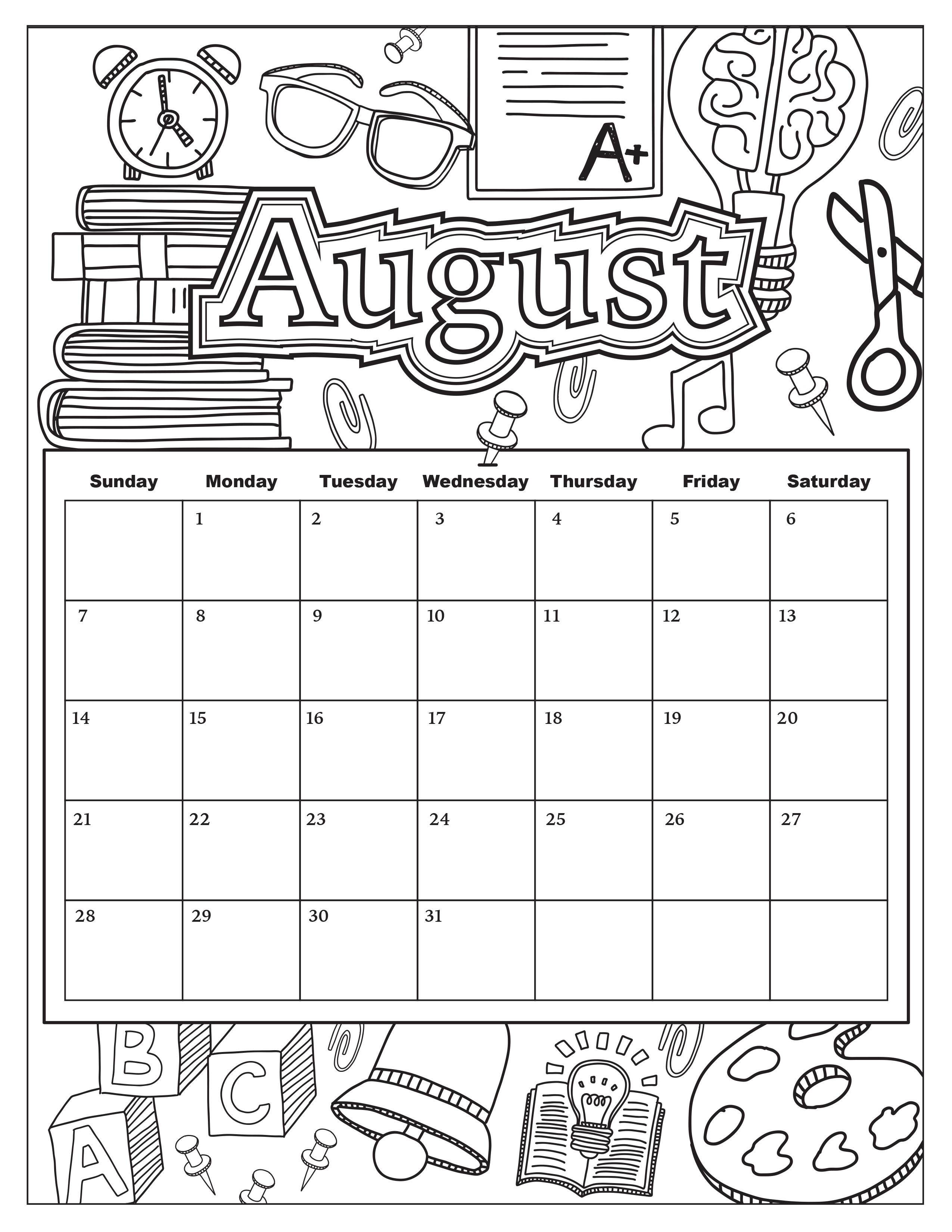 Free Download: Coloring Pages From Popular Adult Coloring Books with Free Printable Adult October Calendar 2019 Coloring Sheets