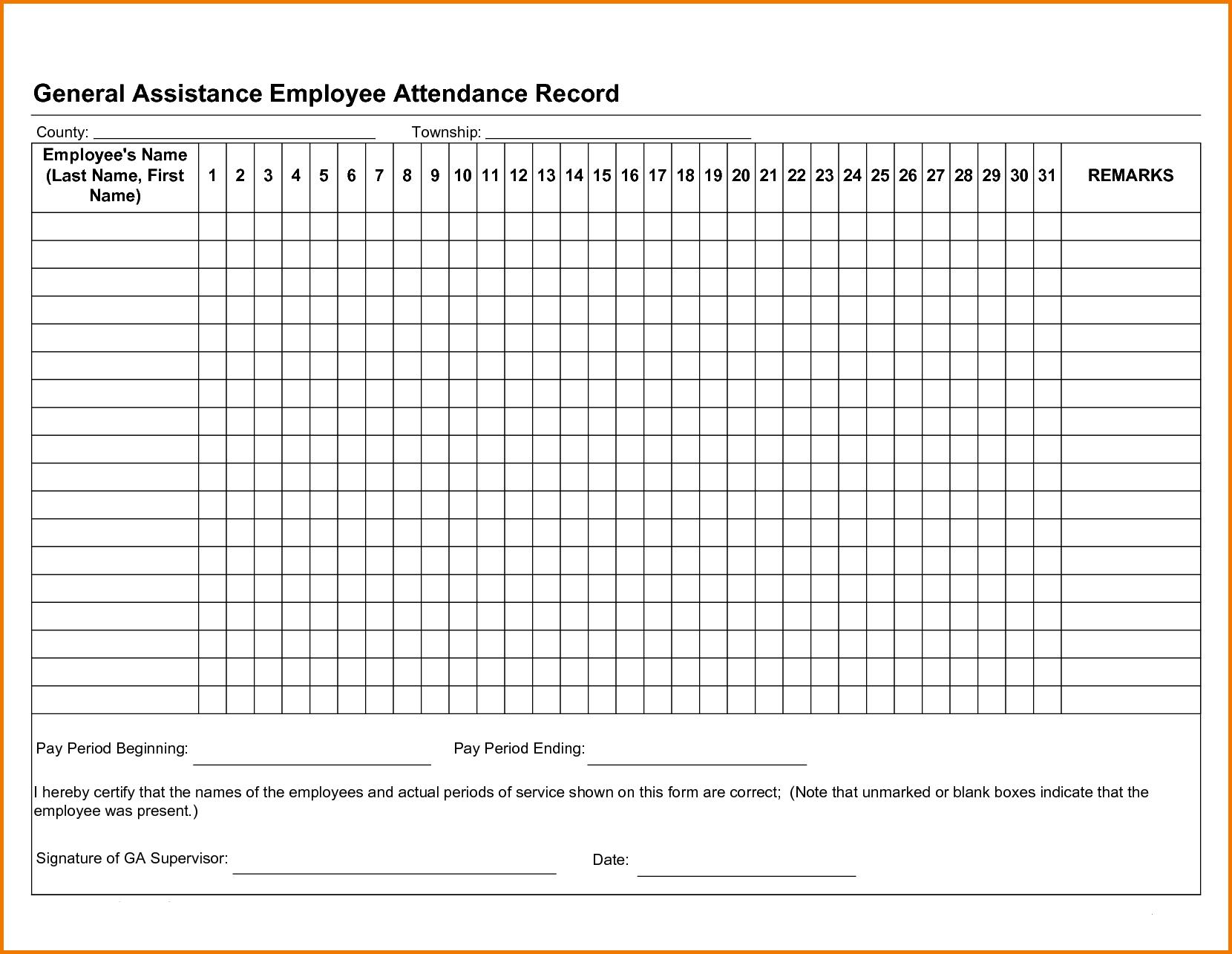 Free Employee Attendance Tracker Excel 2019 | Swimming Organization pertaining to Free Printable Employee Attendance Calendar Template
