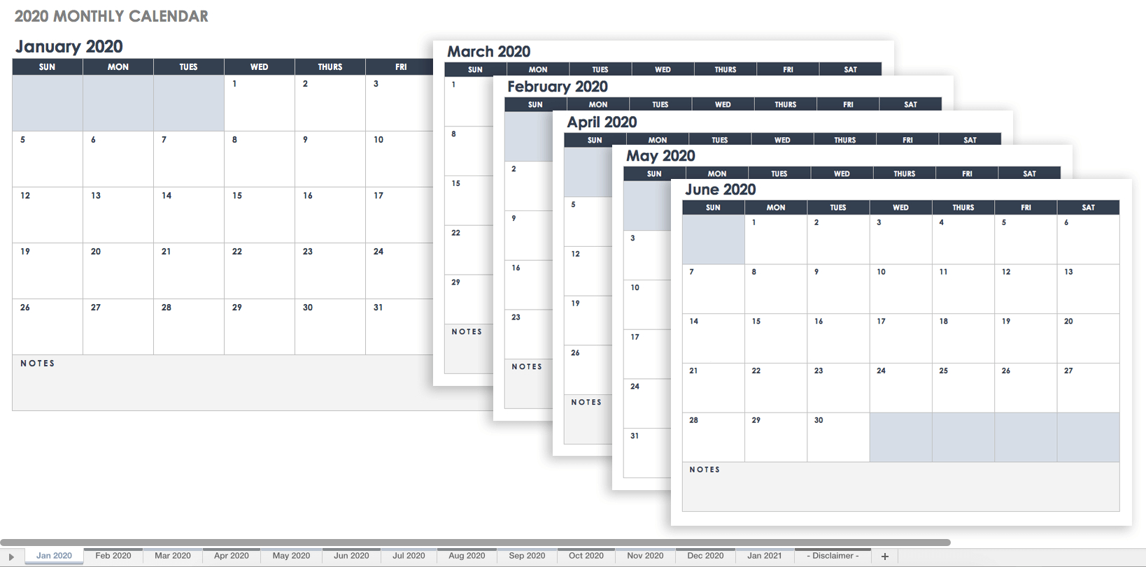 Free Google Calendar Templates | Smartsheet intended for Blank Monthly Calendar Sheets