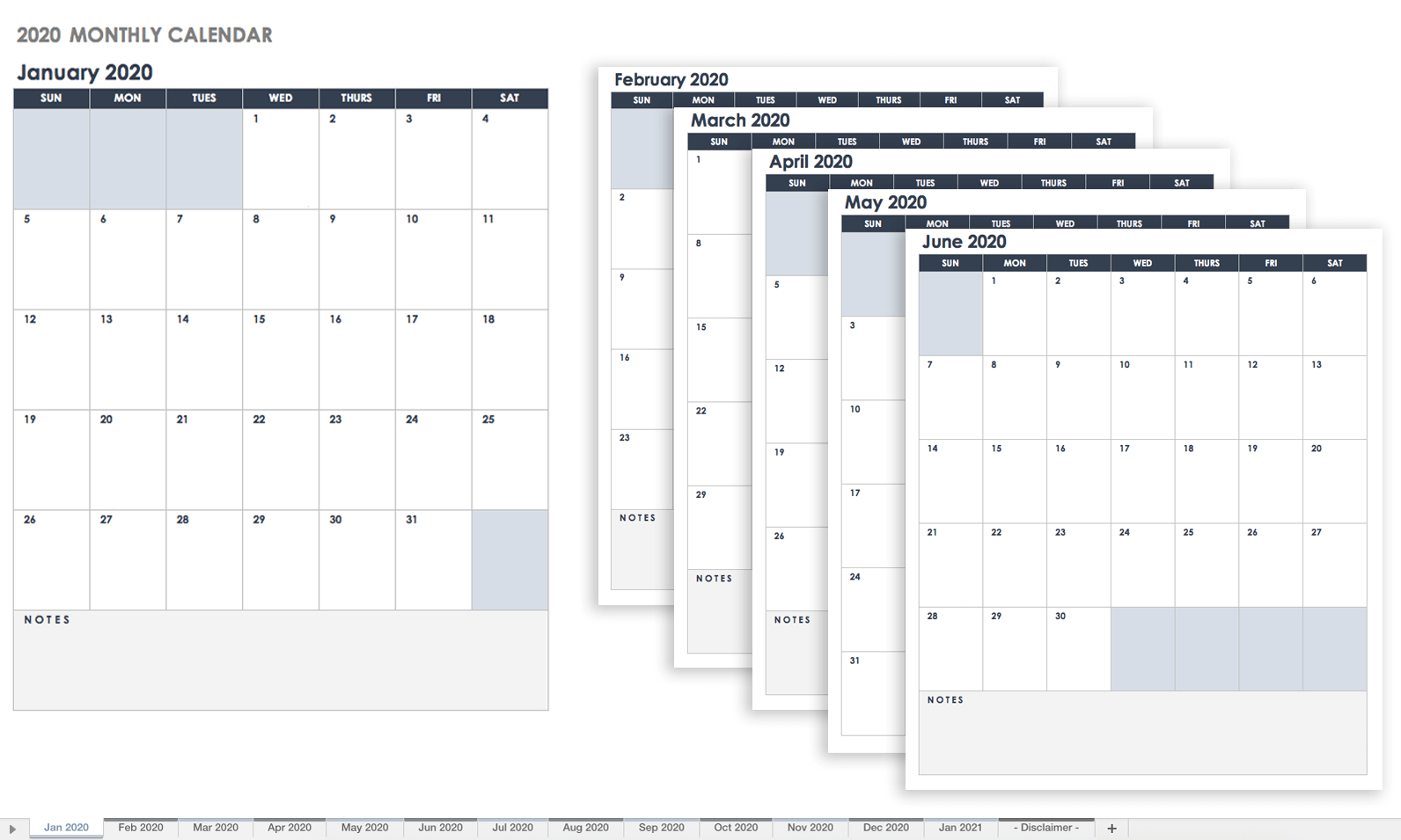 Free Google Calendar Templates | Smartsheet intended for Month By Month Blank Calendar