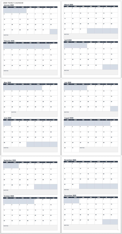 Free Google Calendar Templates | Smartsheet with Google Calendar Printable 2019 2020