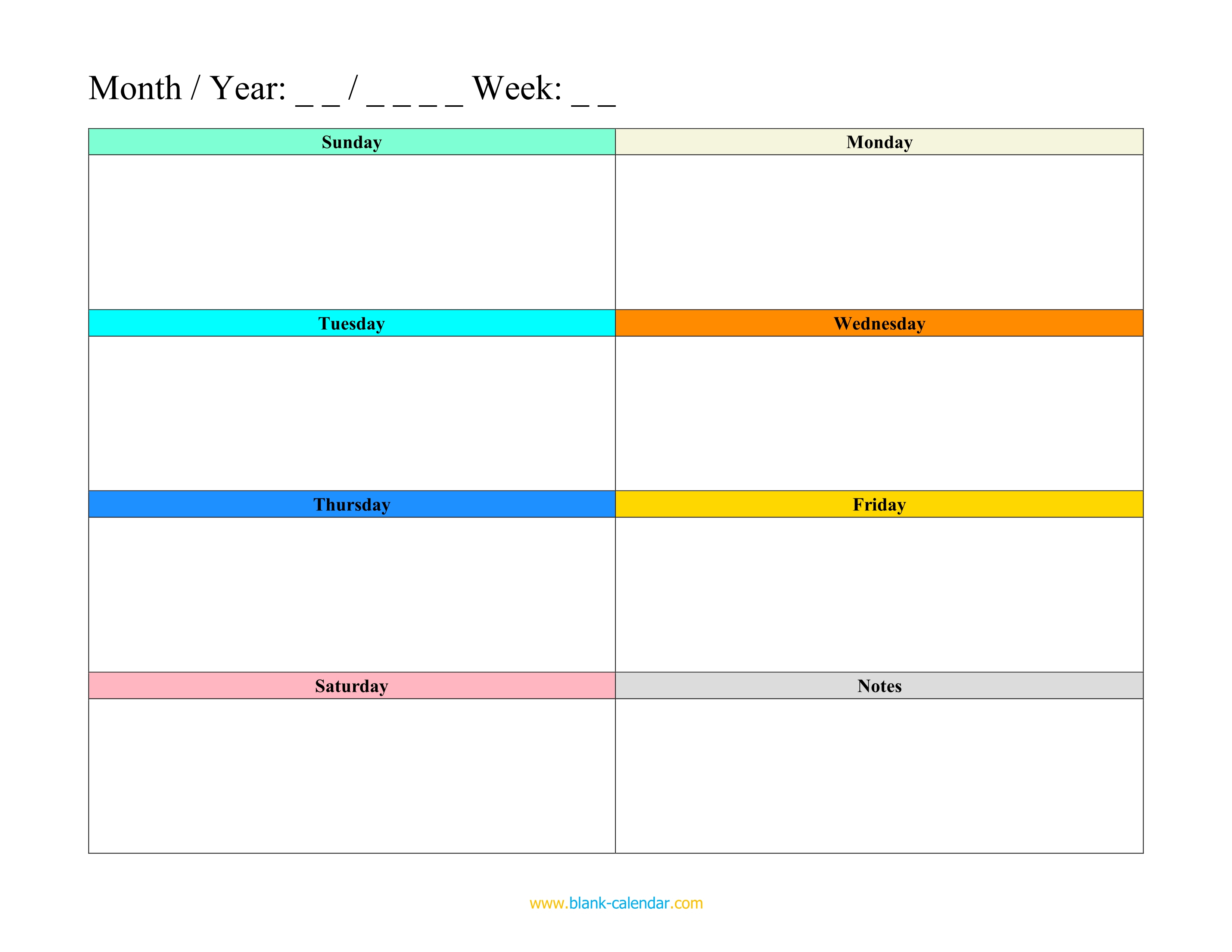 Free Lesson Plan Template Word Doc Monthly Meal Planner Calendar regarding Weekly Calander Lesson Plan Template