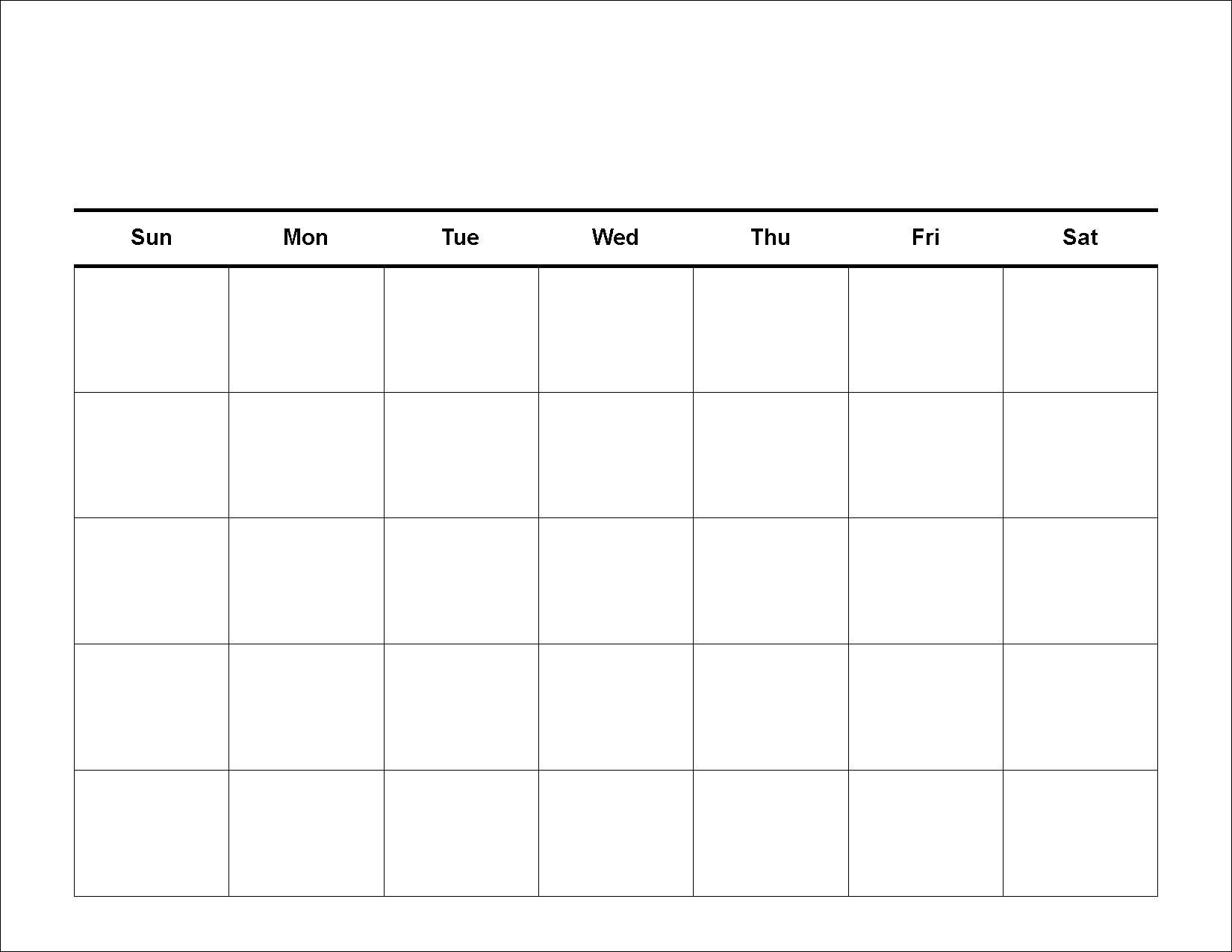 Free Monthly Printable Blank Calendar Templates Online Download Pdf for Online Work Schedule Template Word
