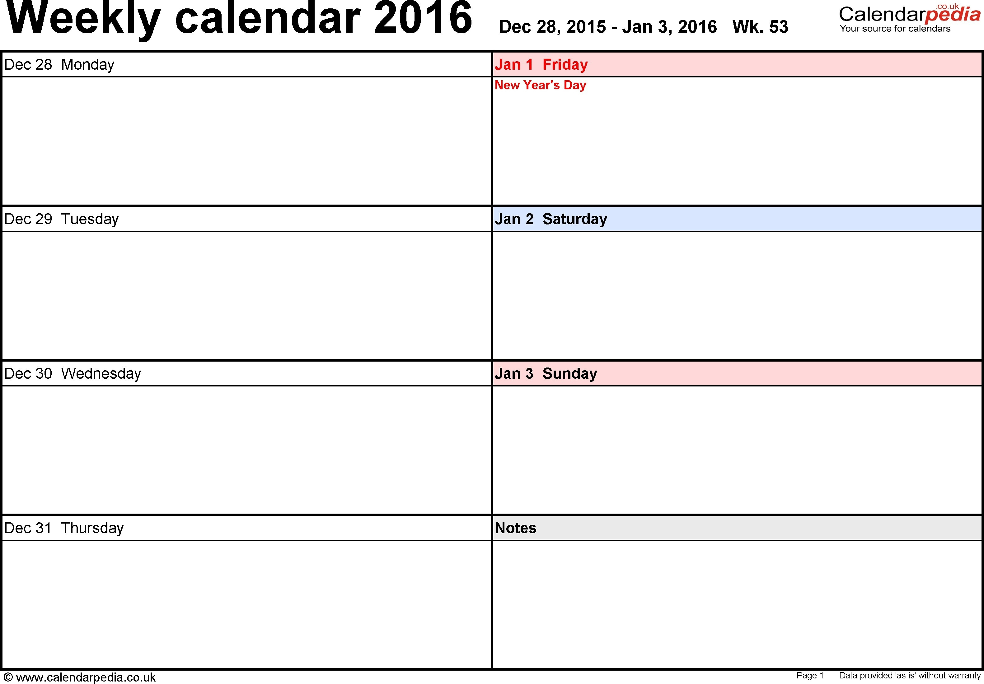 Free One Week Schedule Template | Ten Wall Calendar throughout 2 Week Induction Timetable Free Template
