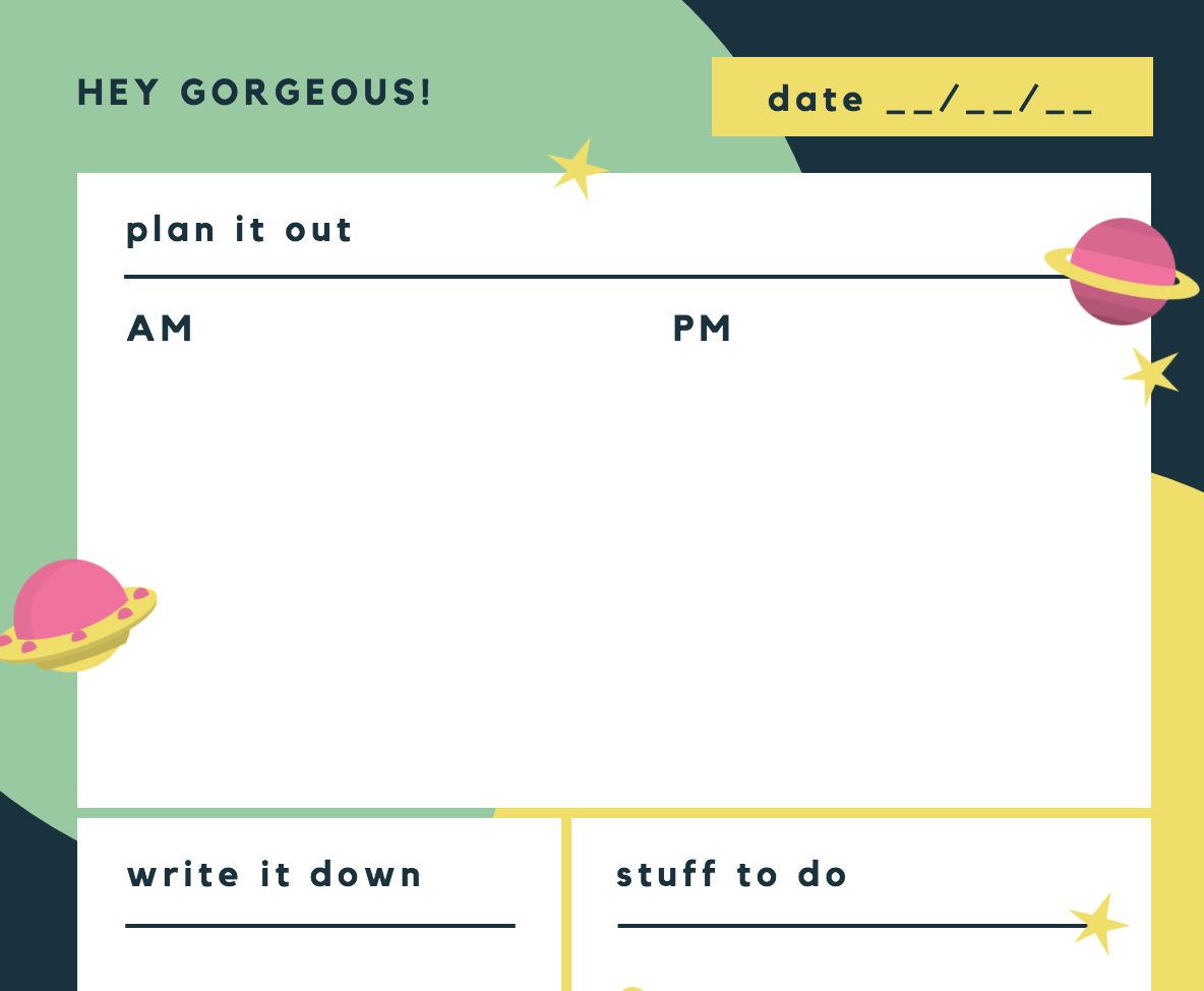 Free Online Daily Planner Maker: Design A Custom Daily Planner - Canva in Daily Planner Templates Pretty