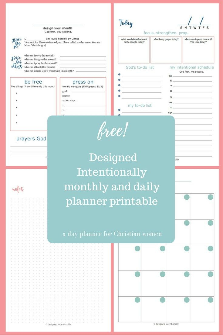 Free Planner Printable | Intentional Organization | Daily Planner throughout Catholic Daily Planner Template Printable Free