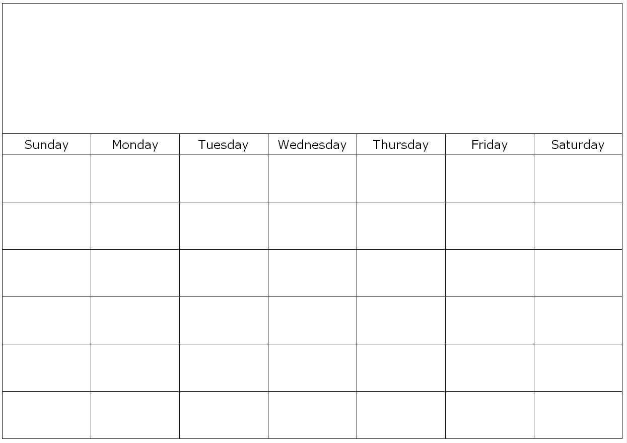Free Printable 1 Month Calendar | You Can Find This Calendar In throughout 1 Month Calendar Printable Blank
