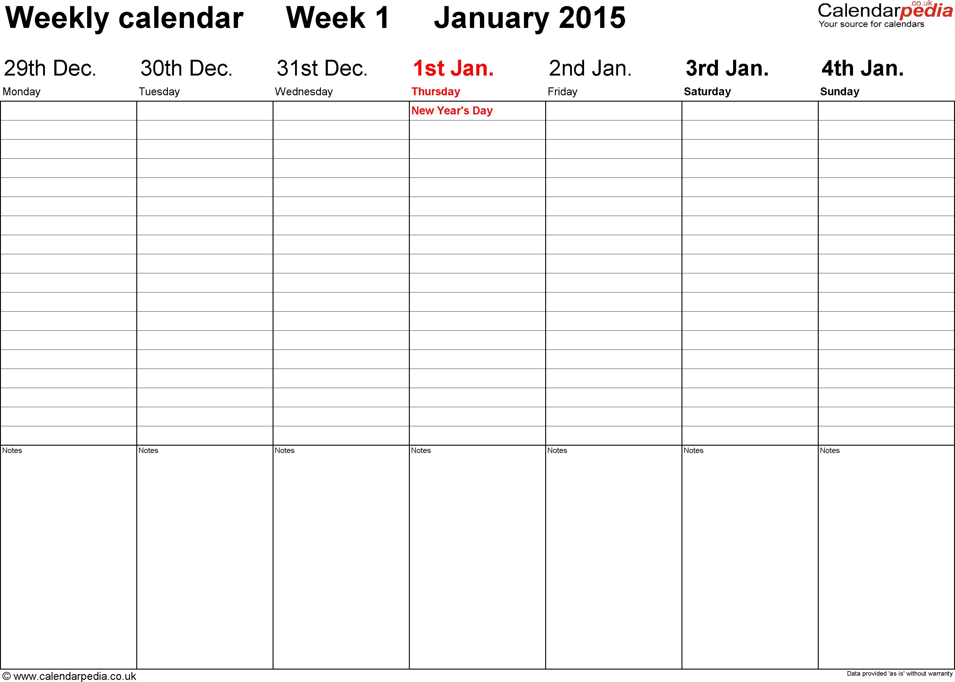 Free Printable 2 Week Calendar Template in Blank Two Week Schedule Template