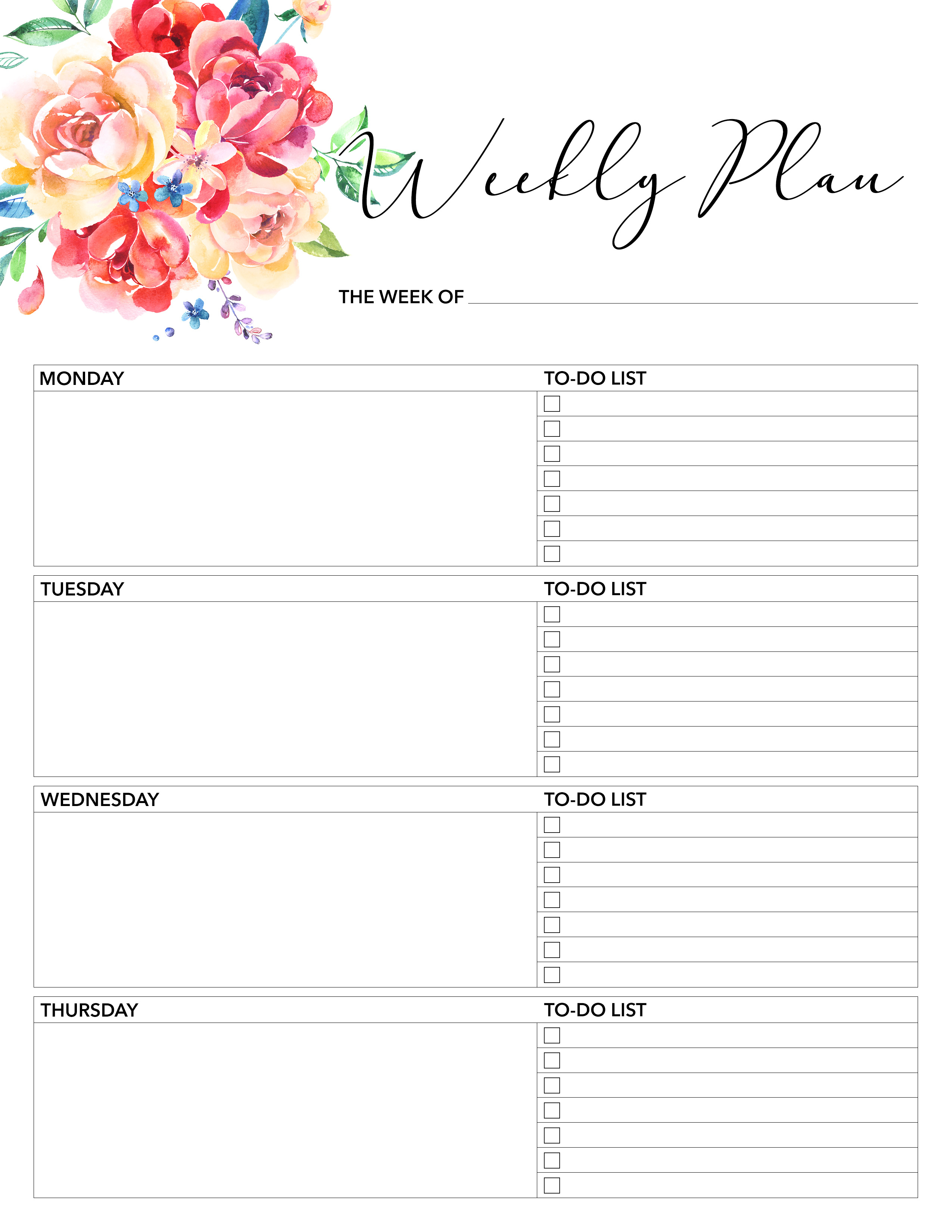 Free Printable 2019 Planner 50 Plus Printable Pages!!! - The Cottage regarding Daily Planner Templates Pretty