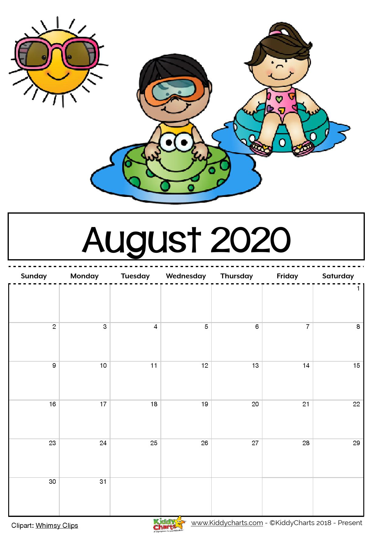 Free Printable 2020 Calendar For Kids, Including An Editable Version inside 2020 Free Printable Coloring Calendar