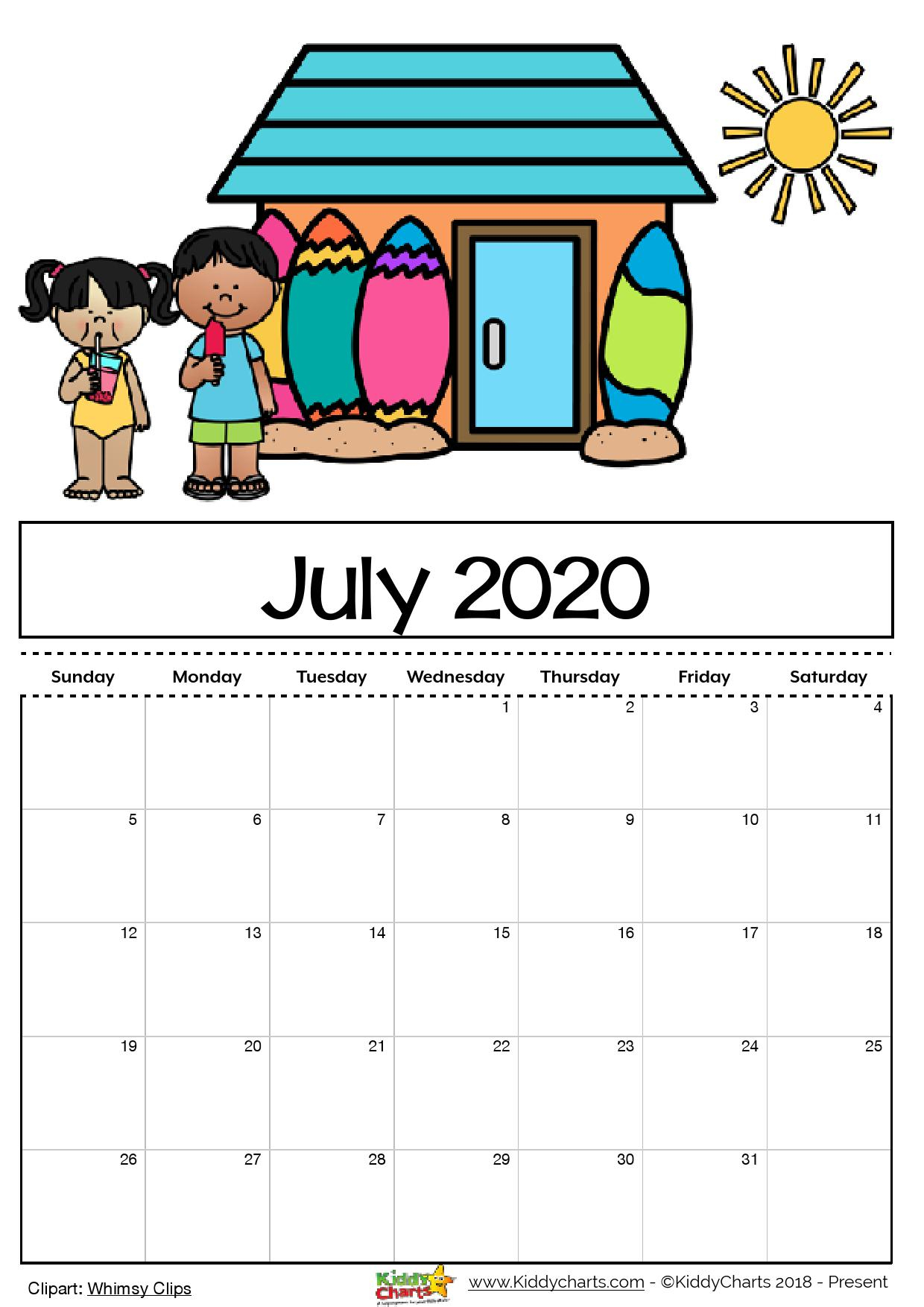 Free Printable 2020 Calendar For Kids, Including An Editable Version intended for 2020 Free Printable Coloring Calendar